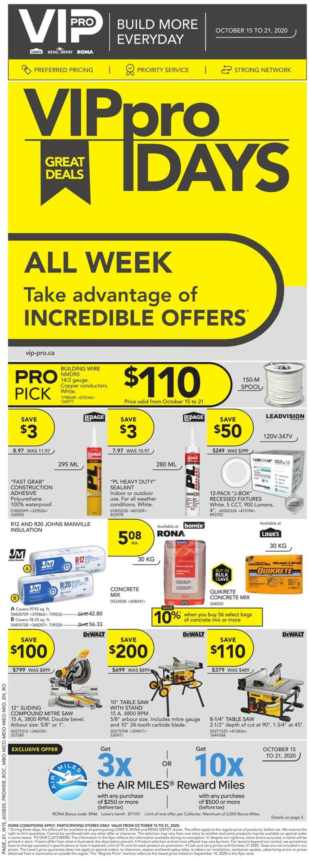 Lowes Flyer - 10/15-10/21/2020