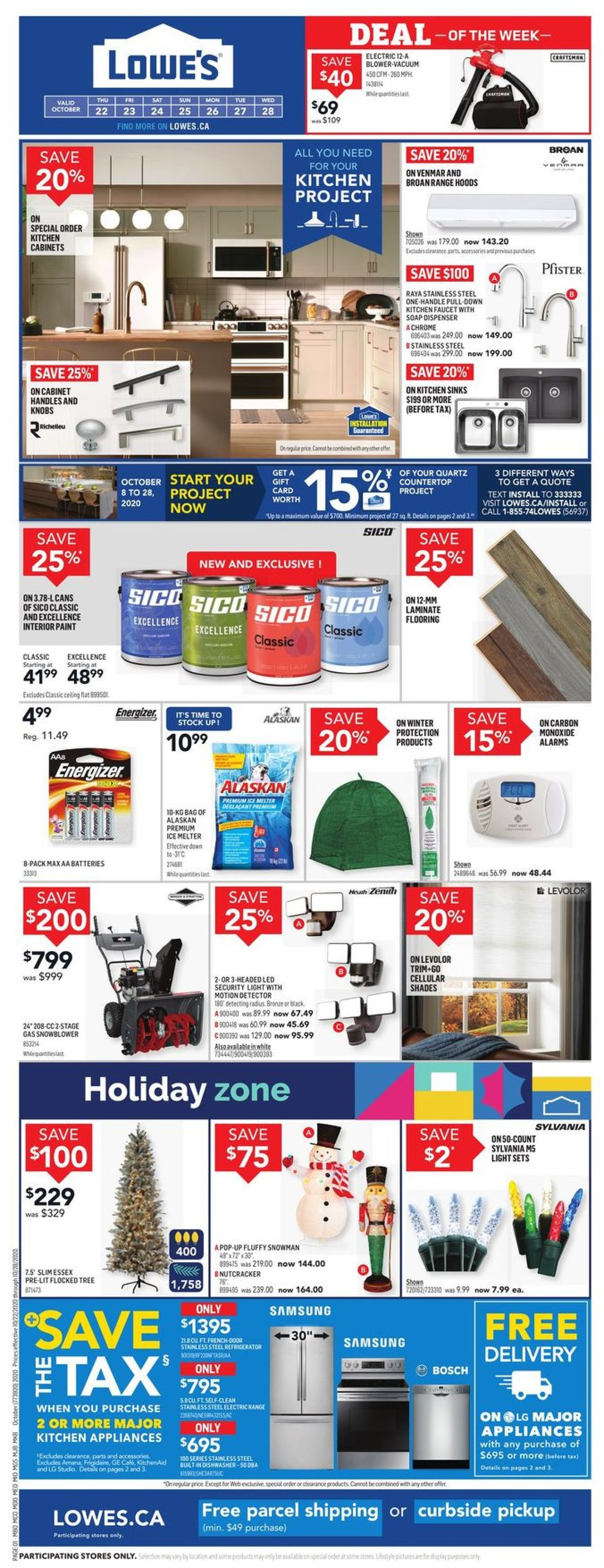 Lowes Flyer - 10/22-10/28/2020