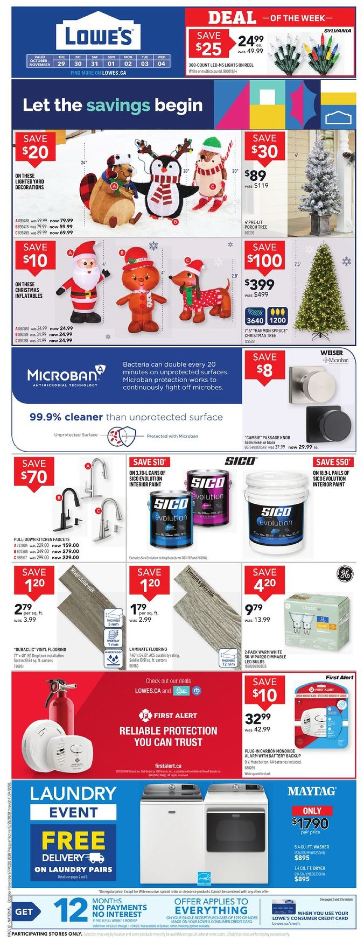 Lowes Flyer - 10/29-11/04/2020