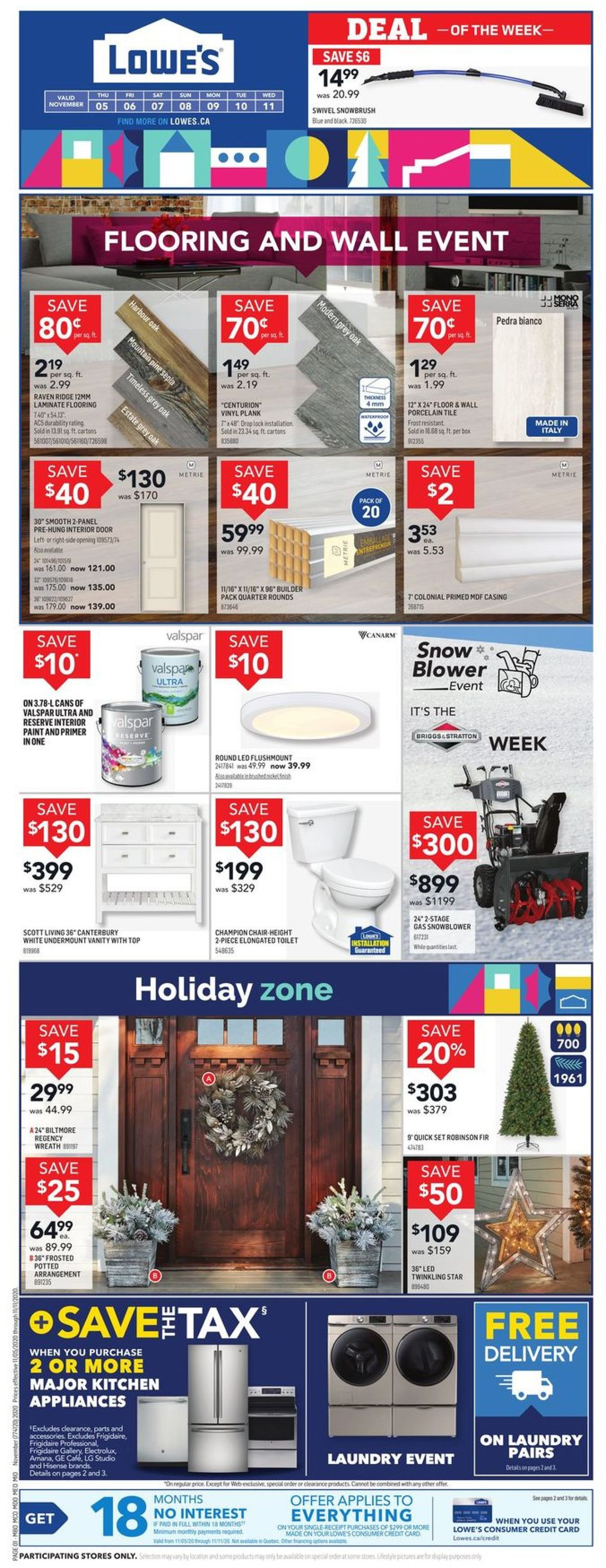 Lowes Flyer - 11/05-11/11/2020