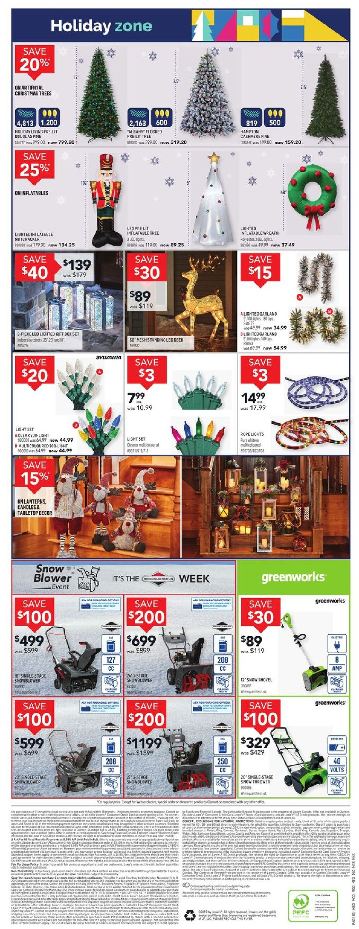 Lowes Flyer - 11/05-11/11/2020 (Page 3)