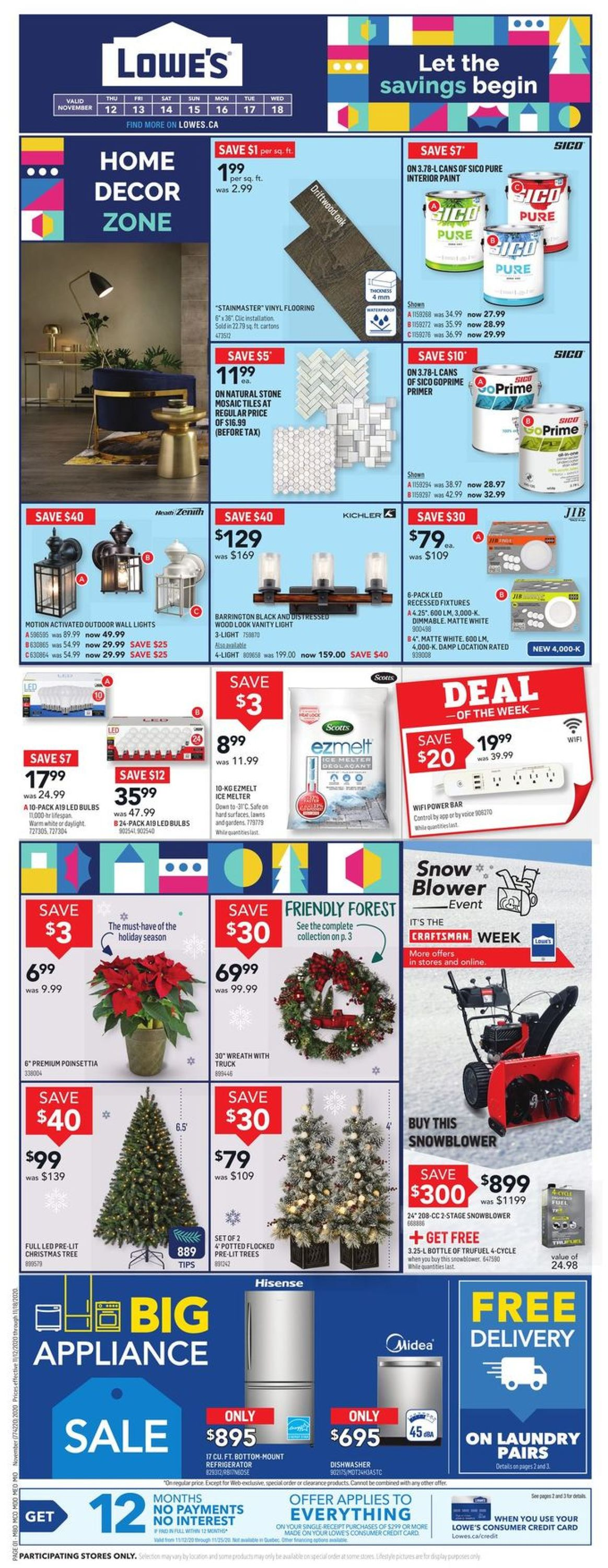 Lowes Flyer - 11/12-11/18/2020