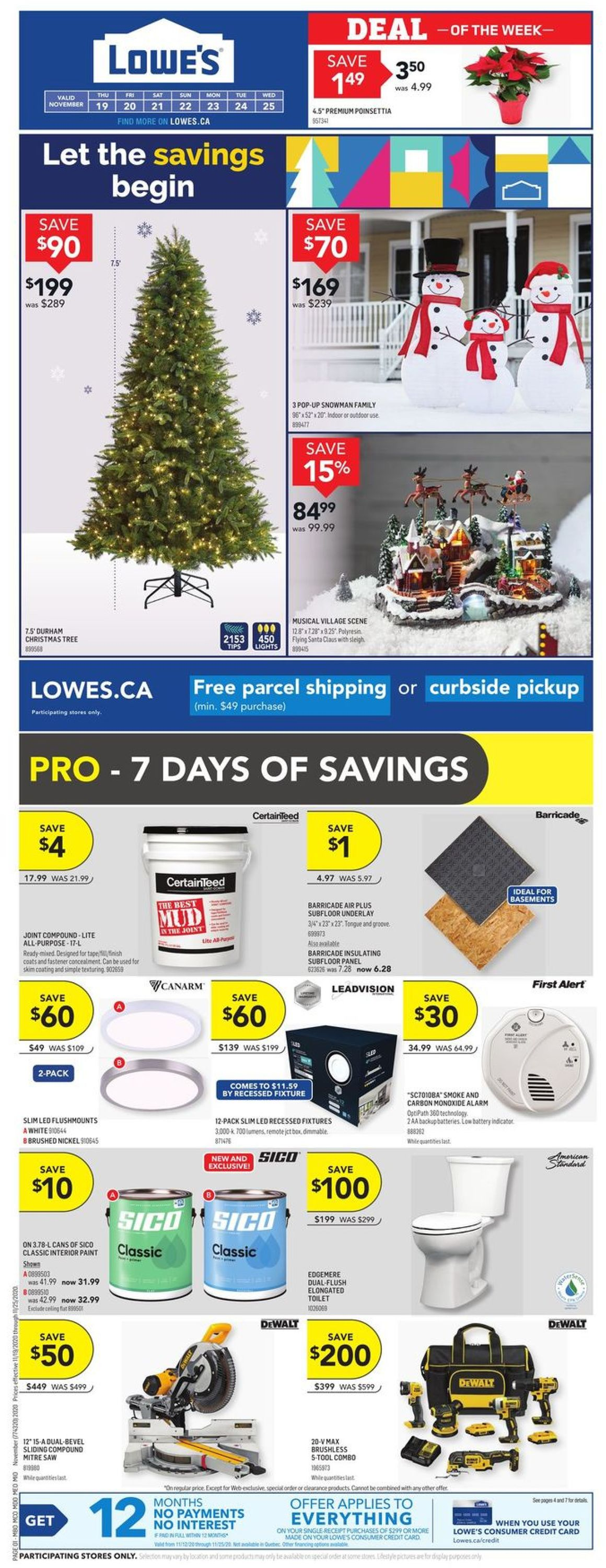 Lowes Flyer - 11/19-11/25/2020