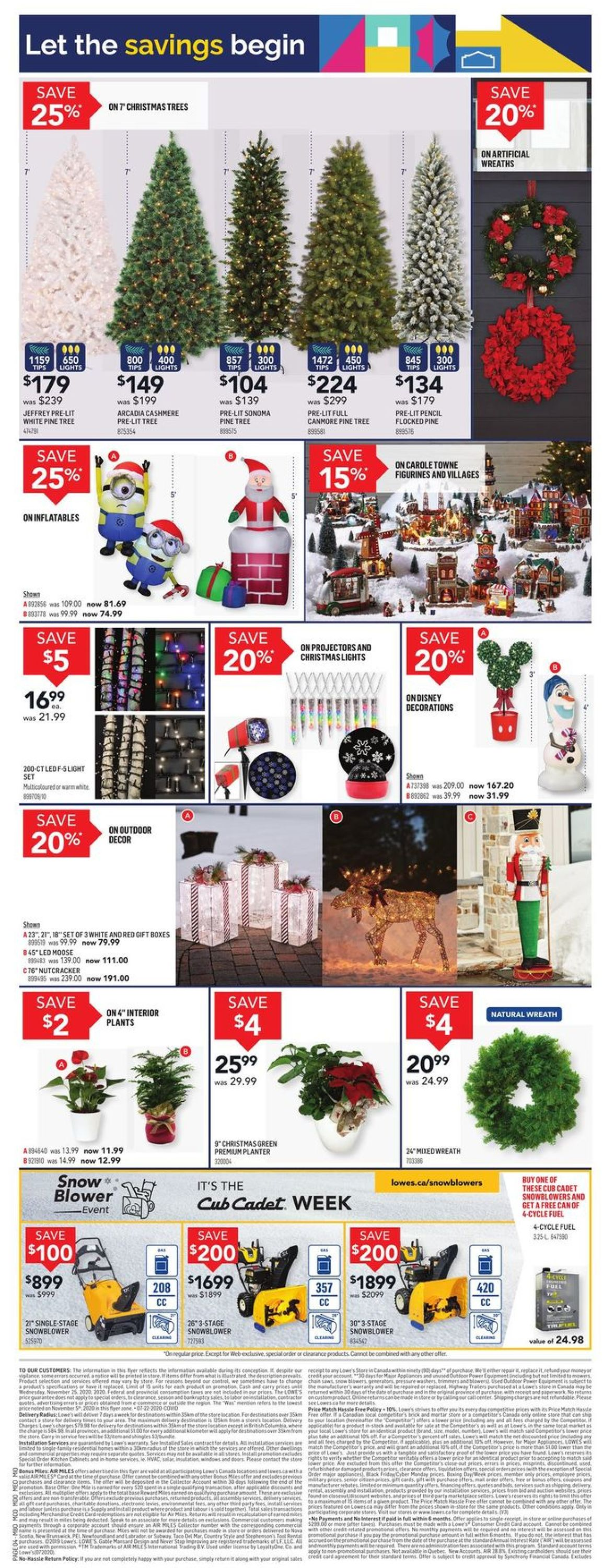 Lowes Flyer - 11/19-11/25/2020 (Page 4)