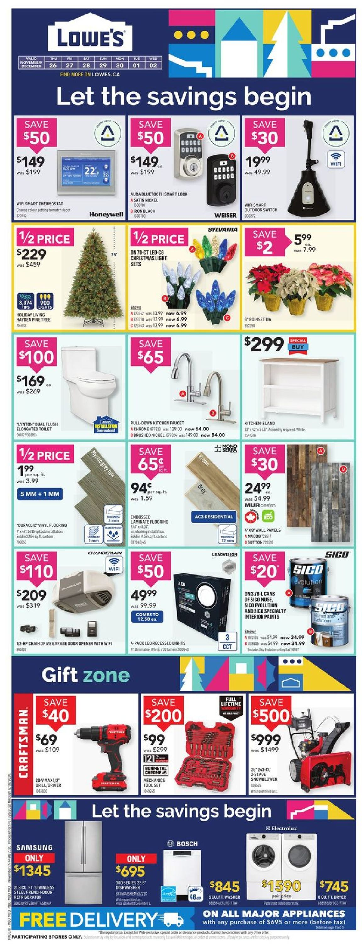 Lowes - Black Friday 2020 Flyer - 11/26-12/02/2020