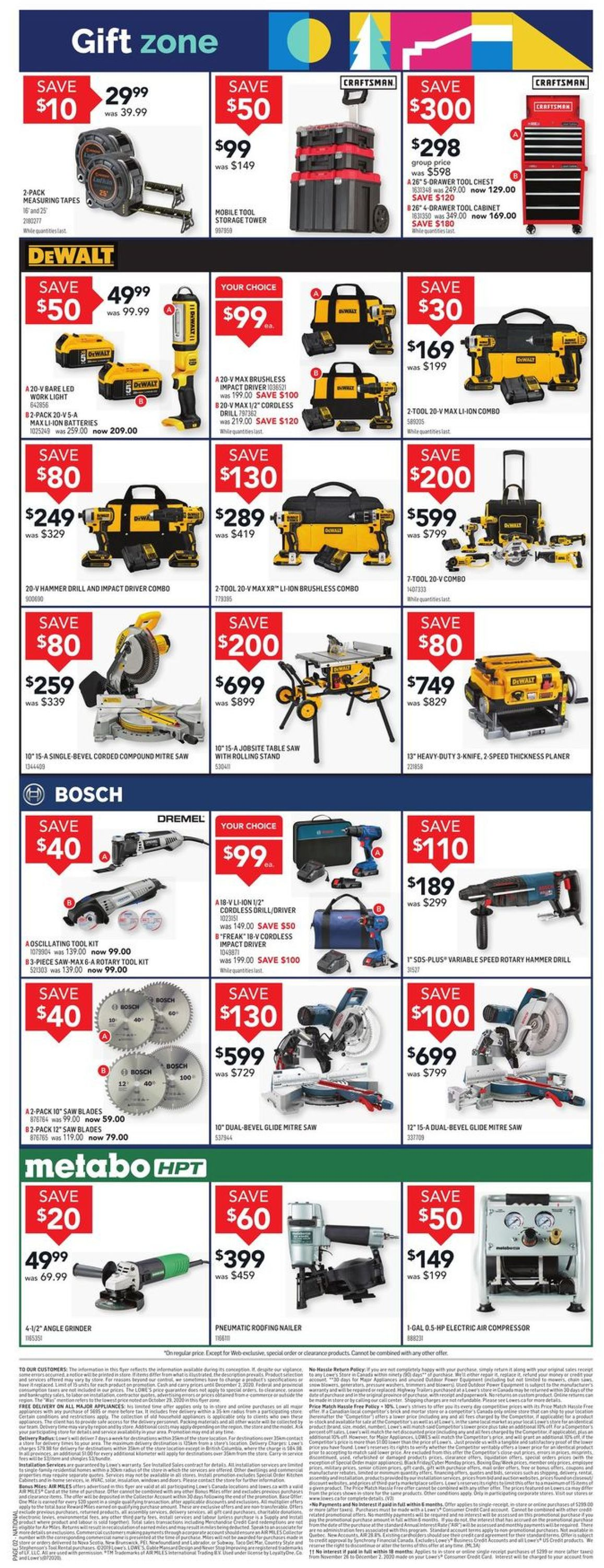 Lowes - Black Friday 2020 Flyer - 11/26-12/02/2020 (Page 2)