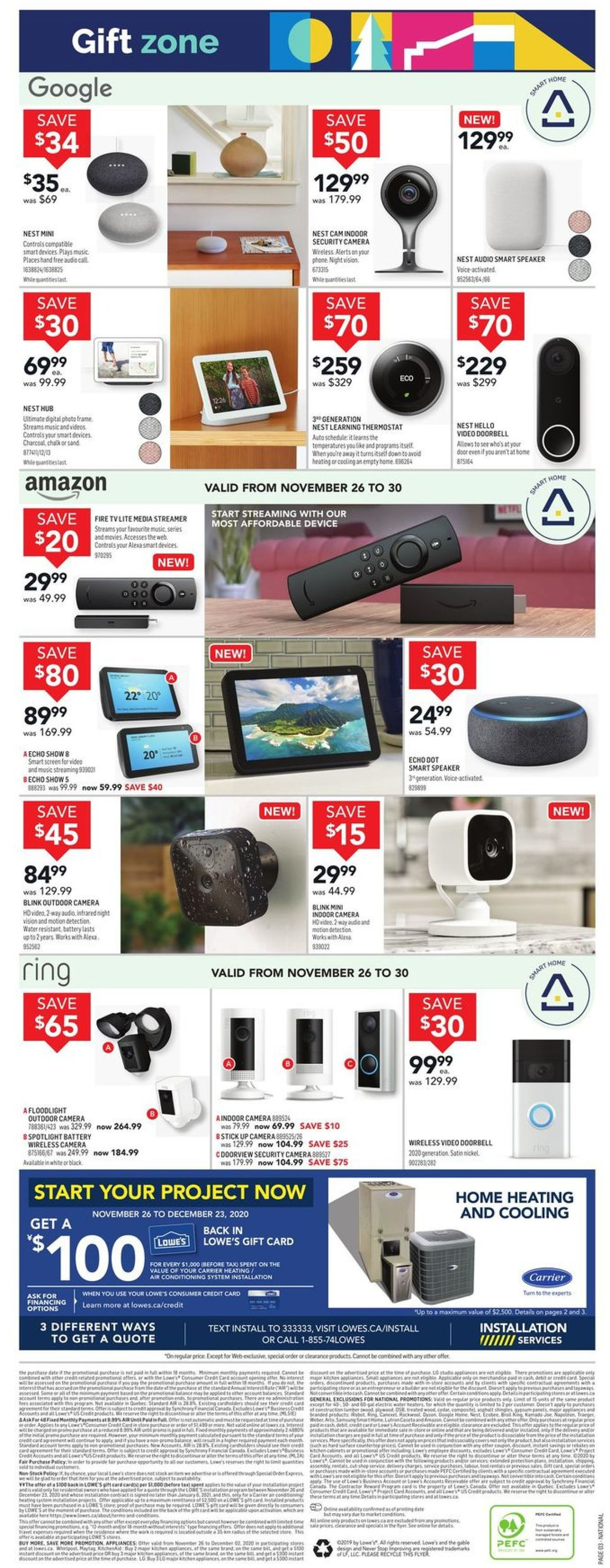 Lowes - Black Friday 2020 Flyer - 11/26-12/02/2020 (Page 3)