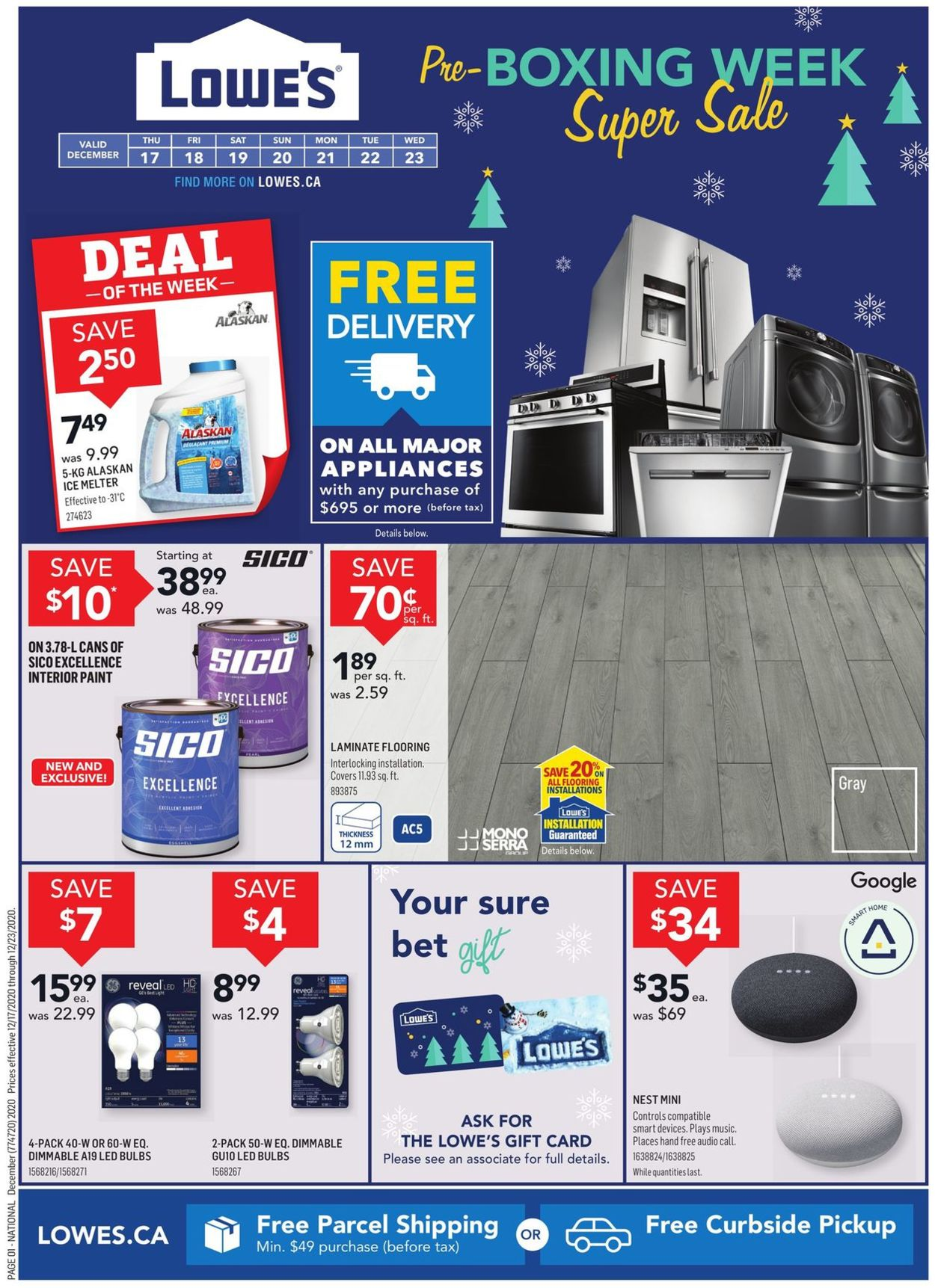 Lowes - Christmas 2020 Flyer - 12/17-12/23/2020