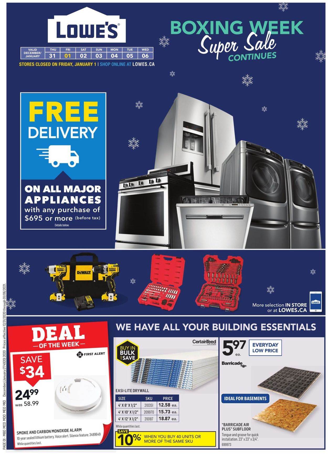 Lowes - Boxing Week 2020 Flyer - 12/31-01/06/2021