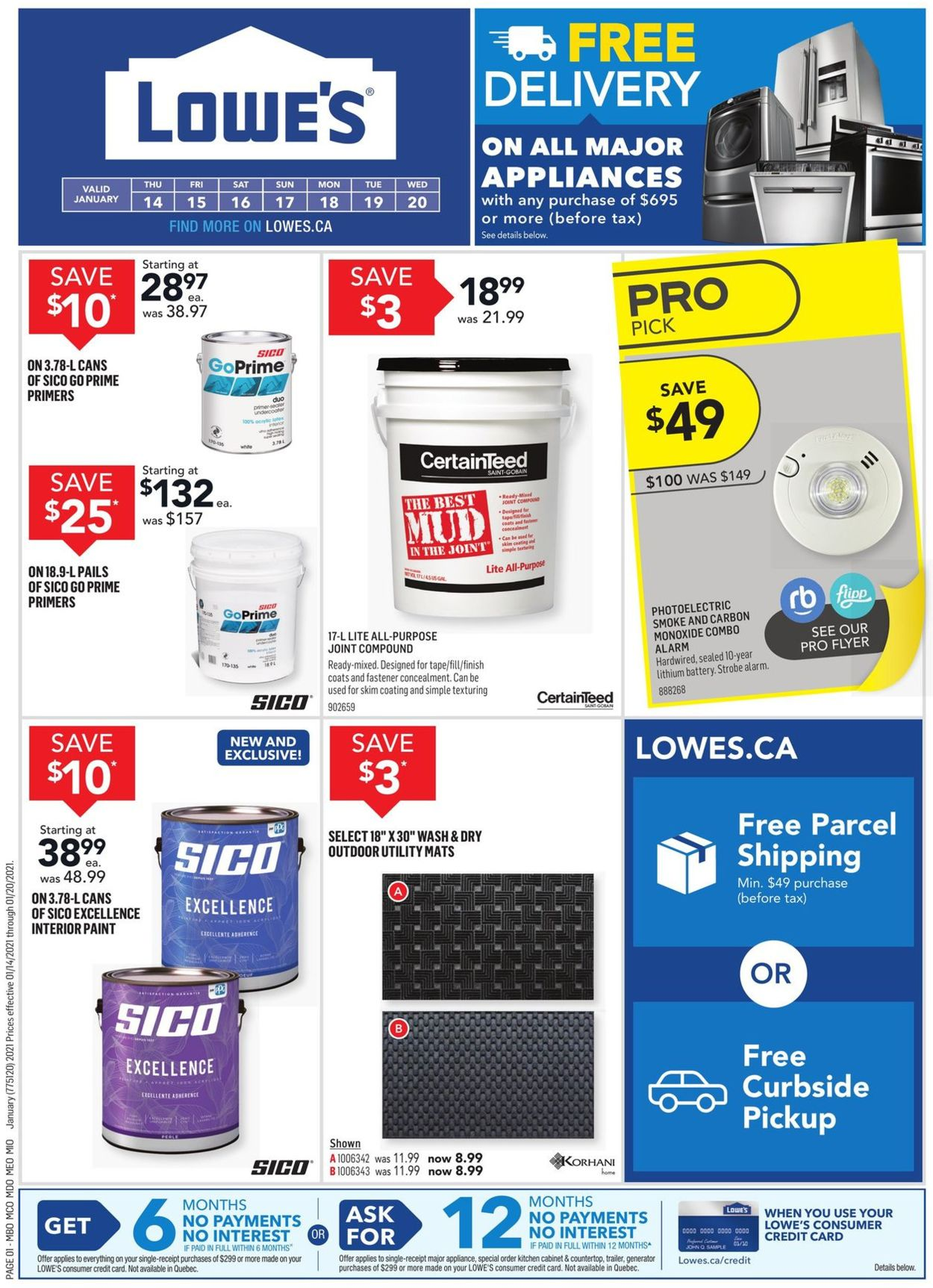 Lowes Flyer - 01/14-01/20/2021