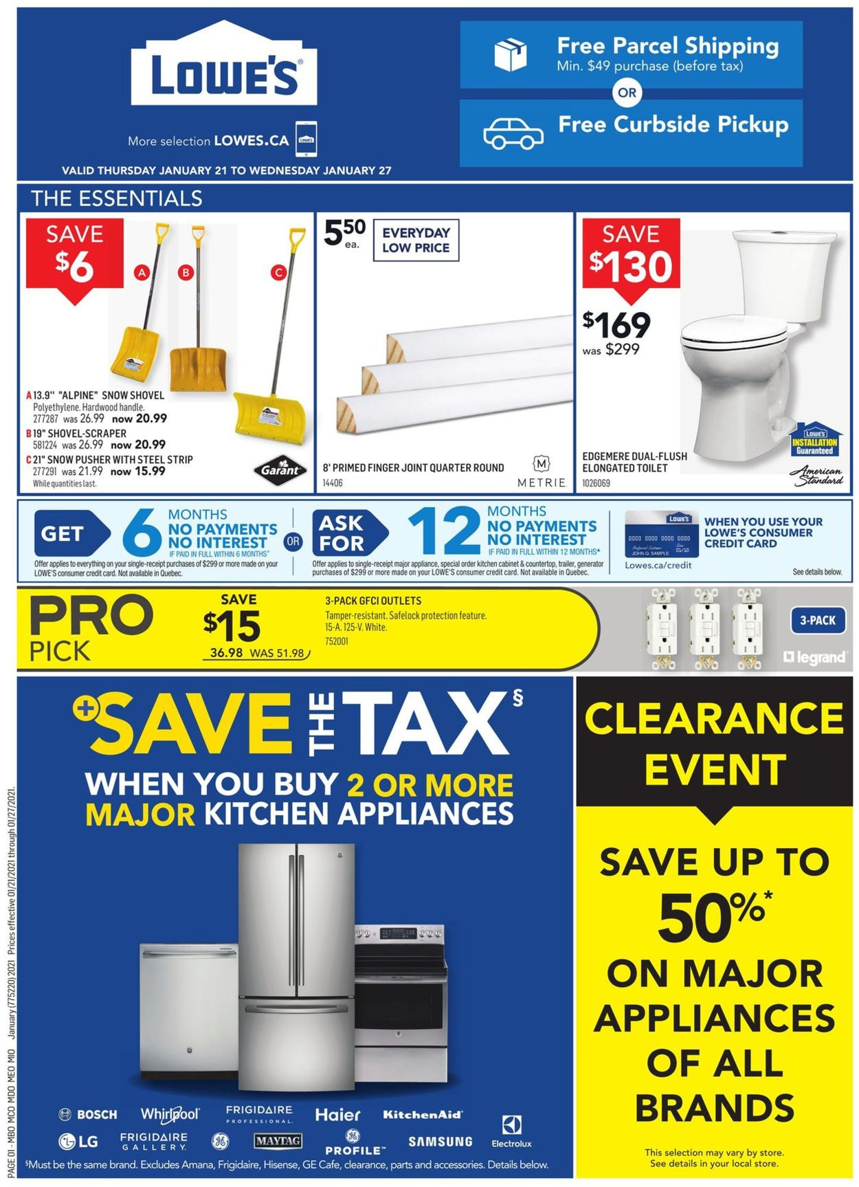 Lowes Flyer - 01/21-01/27/2021