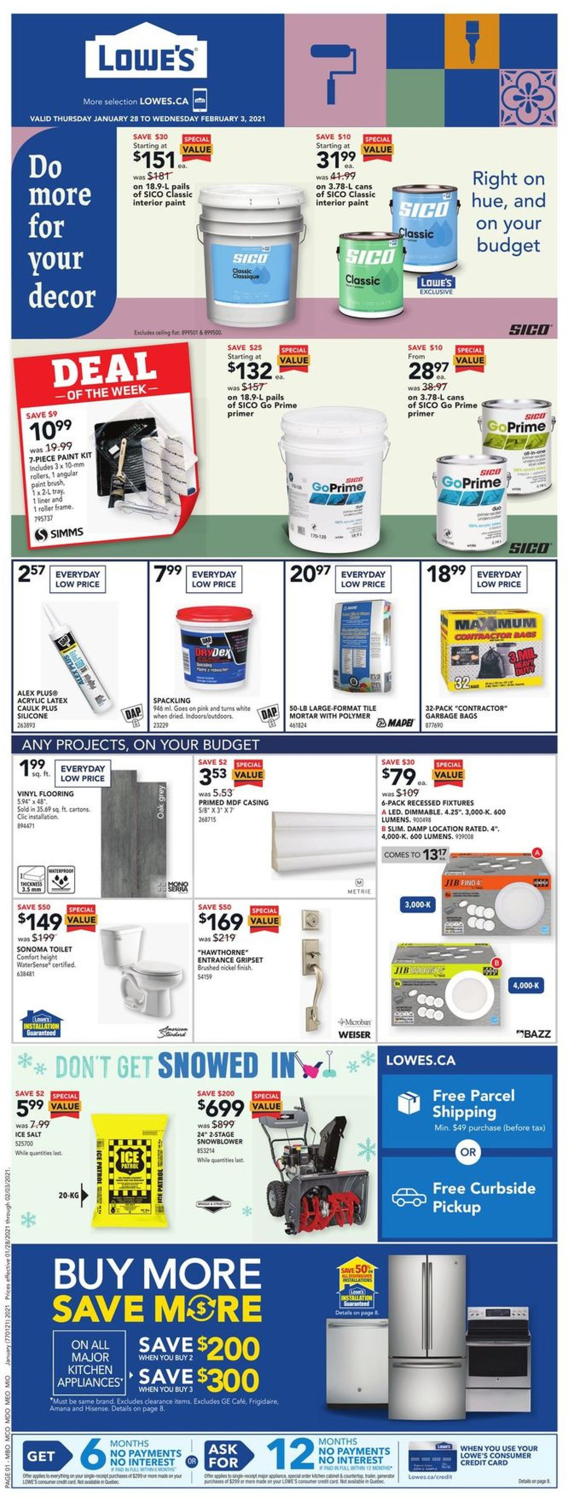 Lowes Flyer - 01/28-02/03/2021