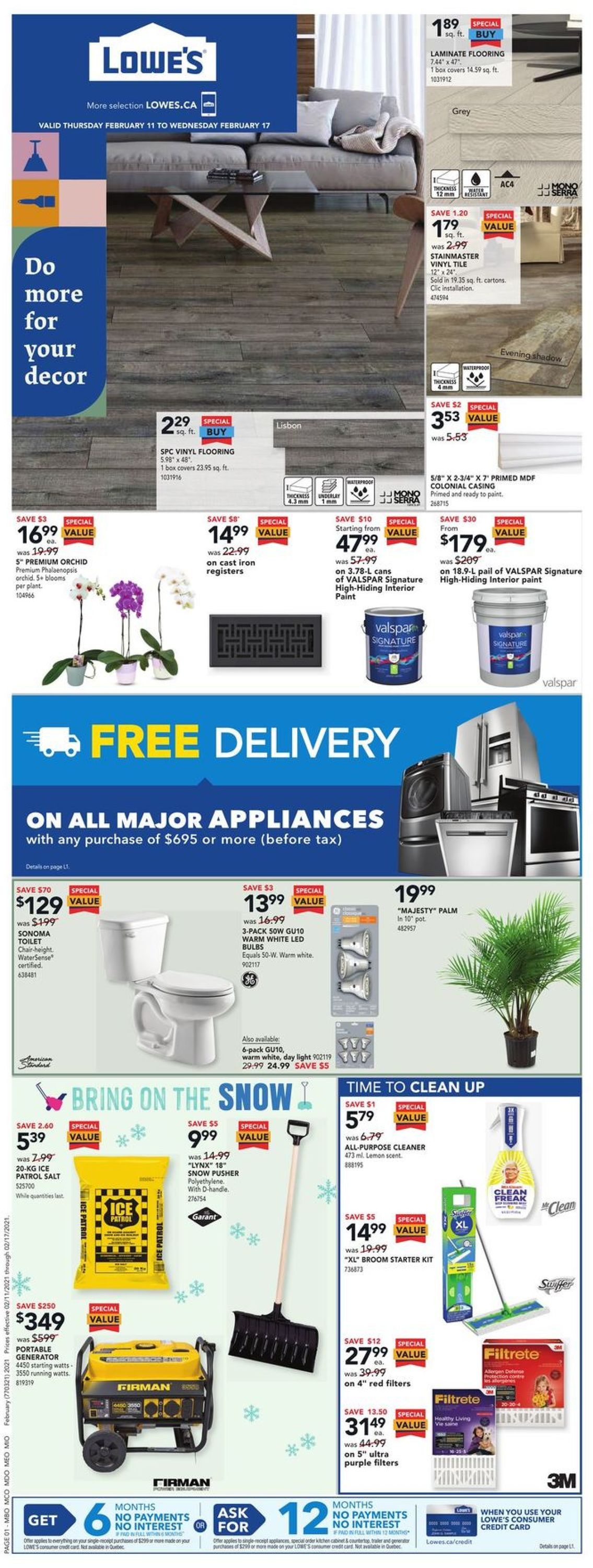 Lowes Flyer - 02/11-02/17/2021