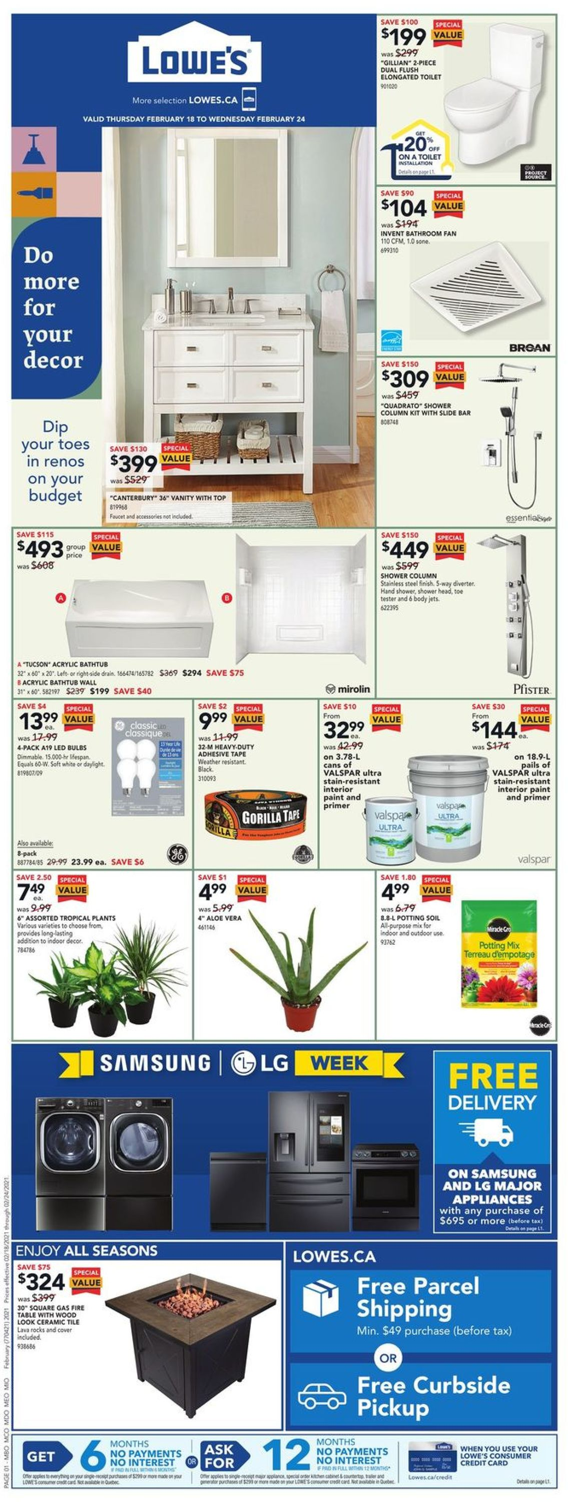 Lowes Flyer - 02/18-02/24/2021