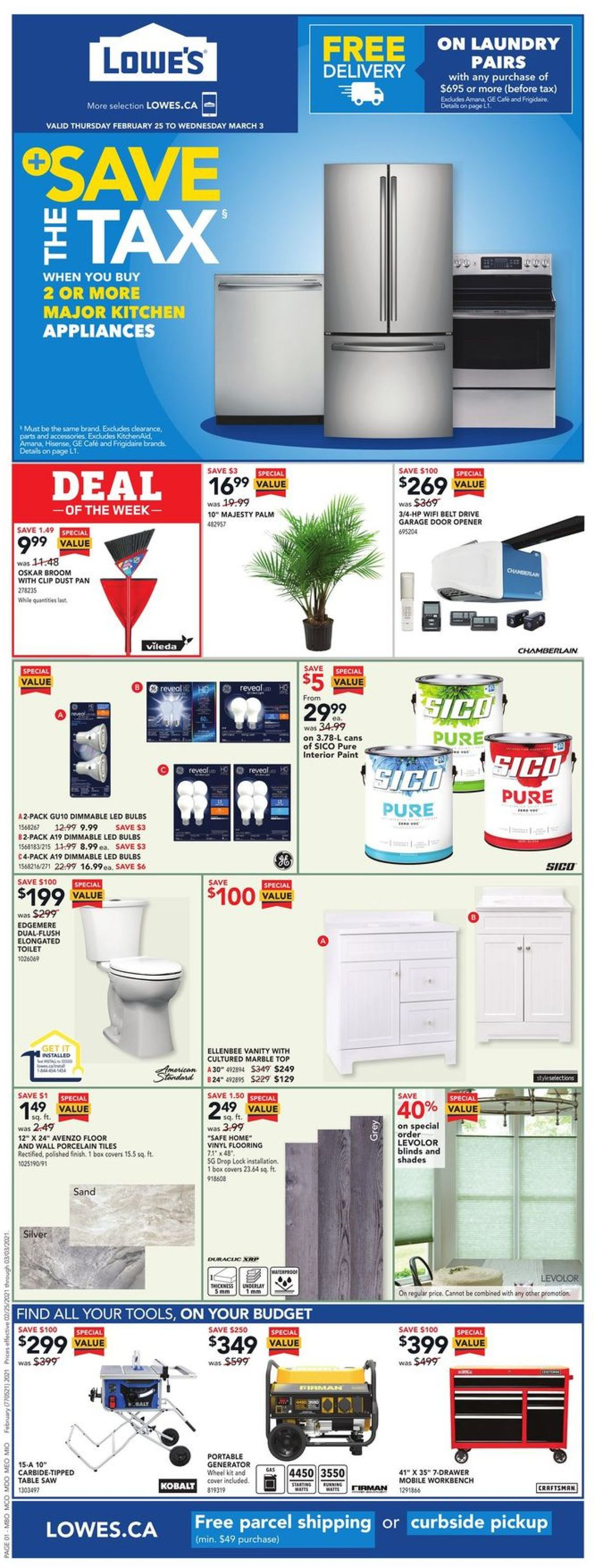 Lowes Flyer - 02/25-03/03/2021