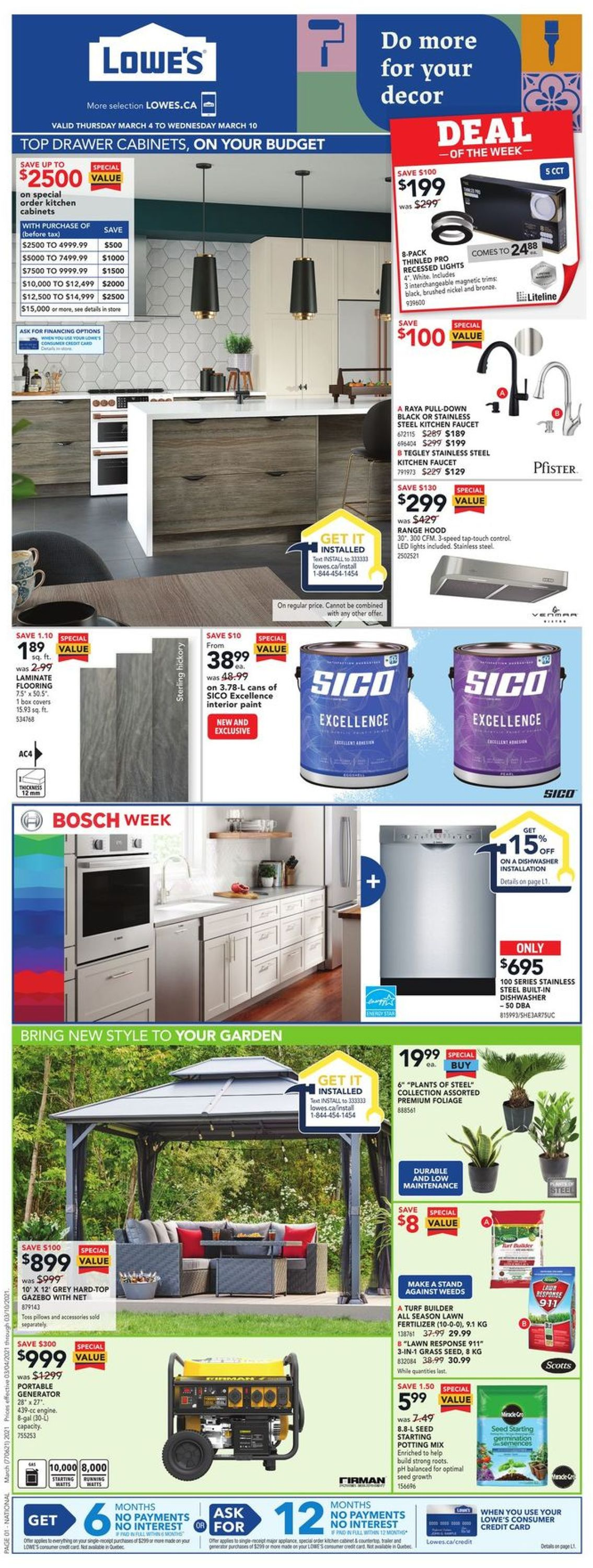 Lowes Flyer - 03/04-03/10/2021