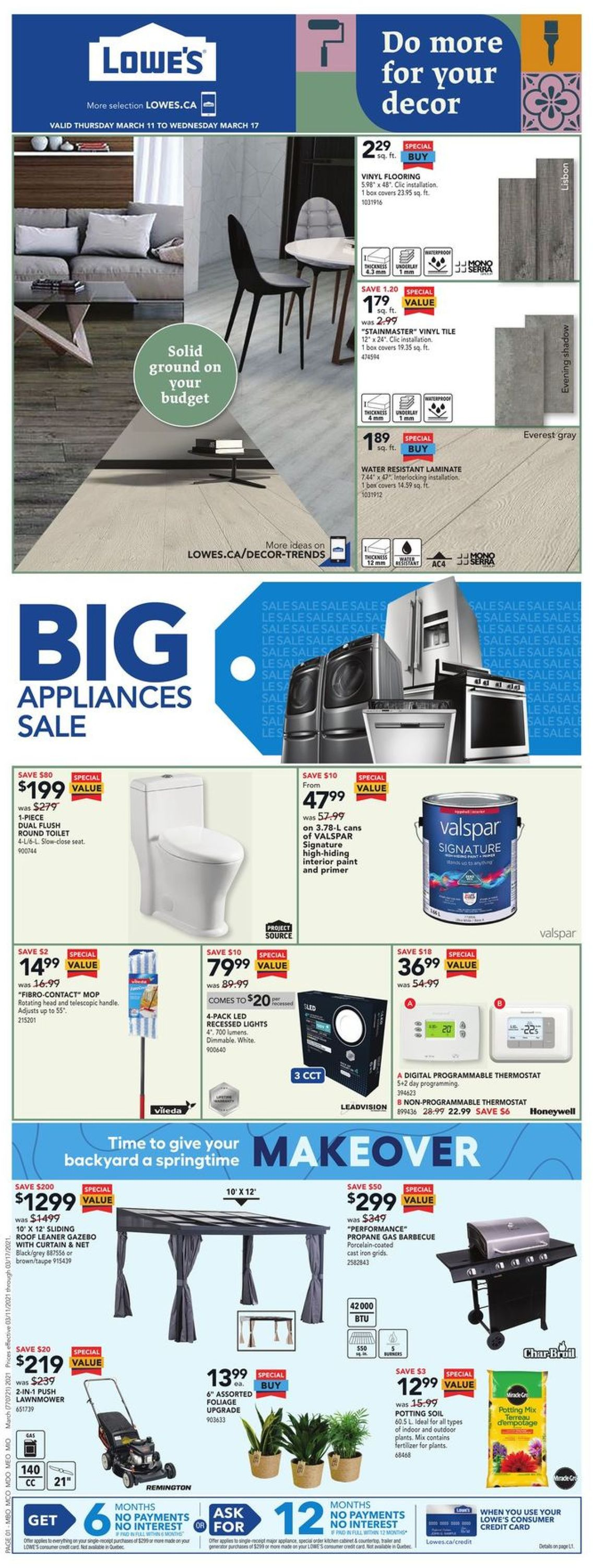 Lowes Flyer - 03/11-03/17/2021
