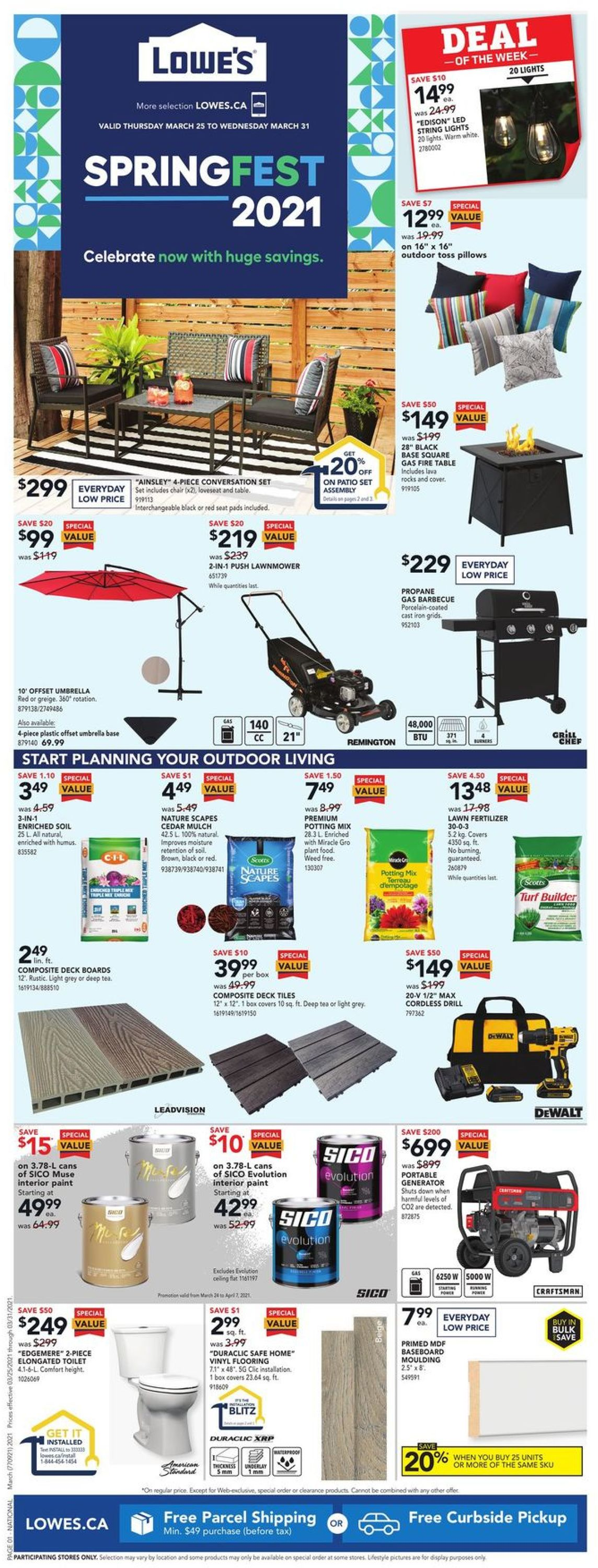 Lowes Flyer - 03/25-03/31/2021
