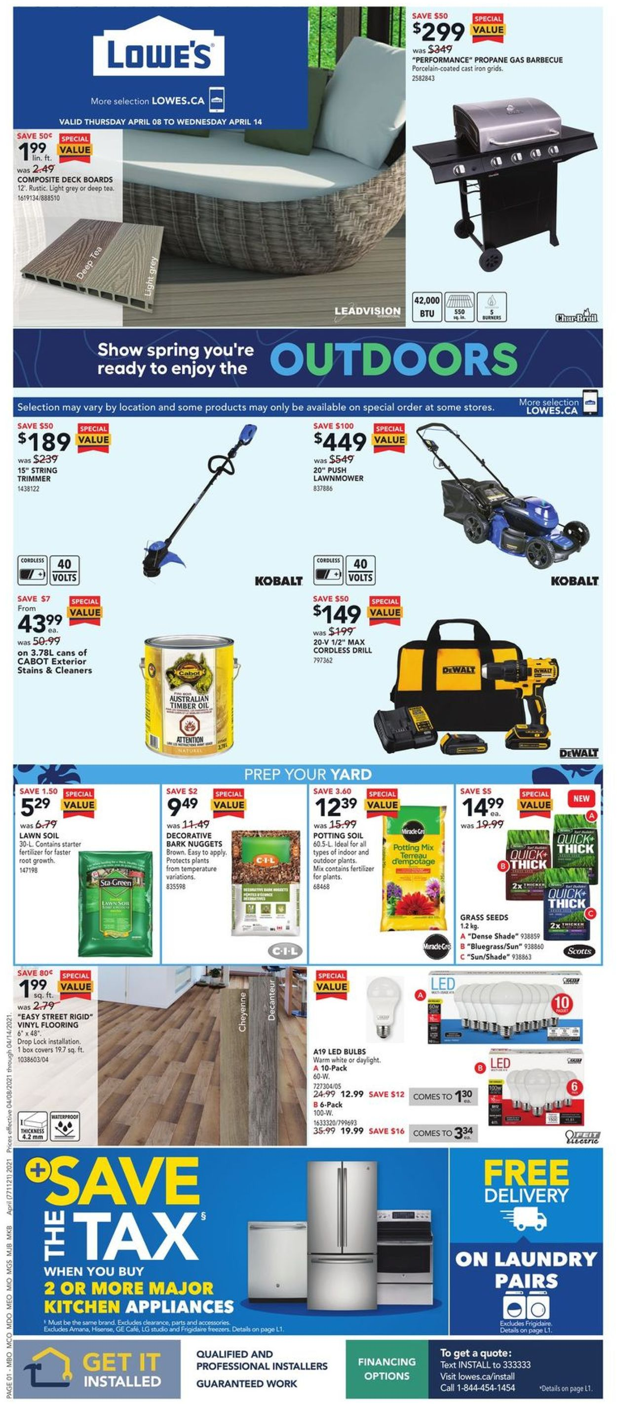 Lowes Flyer - 04/08-04/14/2021