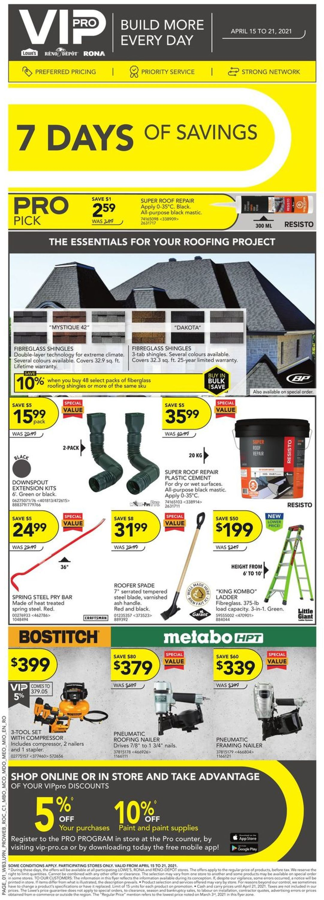 Lowes Flyer - 04/15-04/21/2021