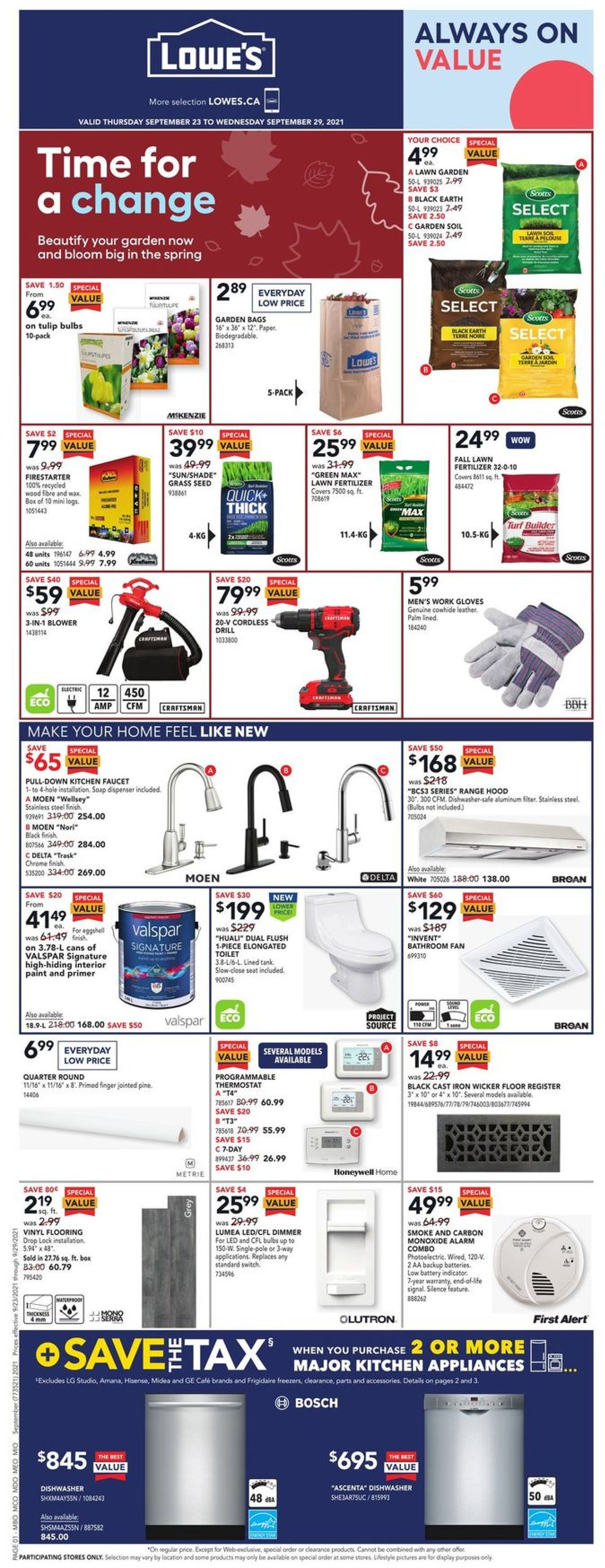 Lowes Flyer - 09/23-09/29/2021