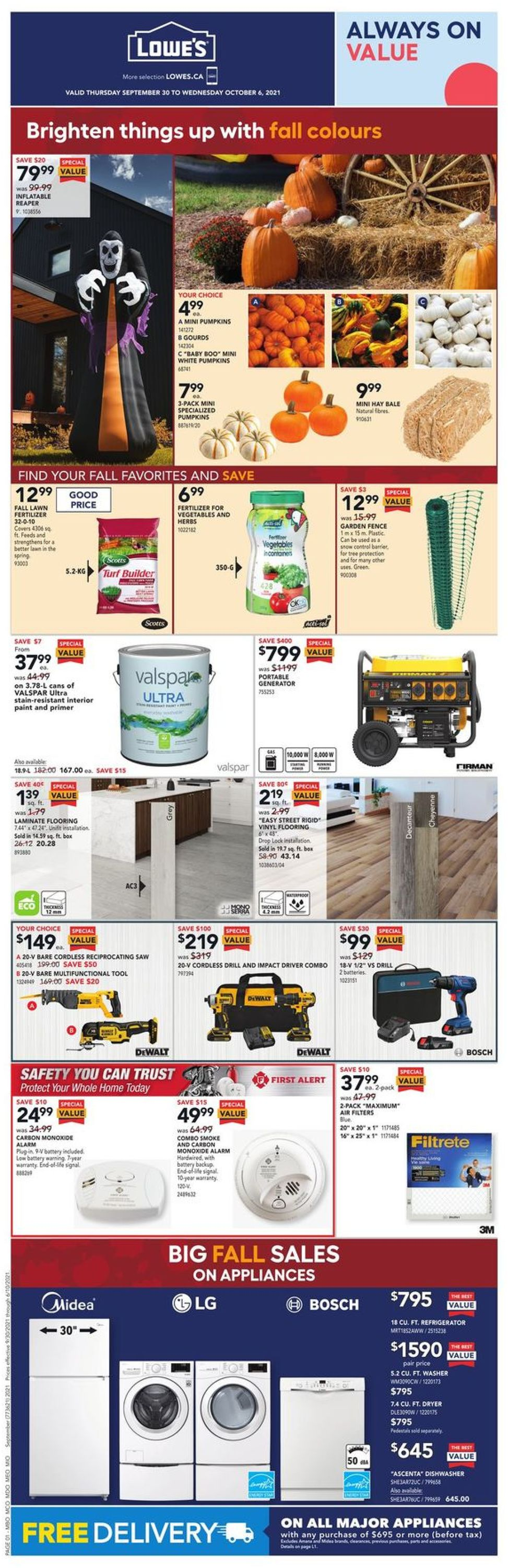 Lowes Flyer - 09/30-10/06/2021