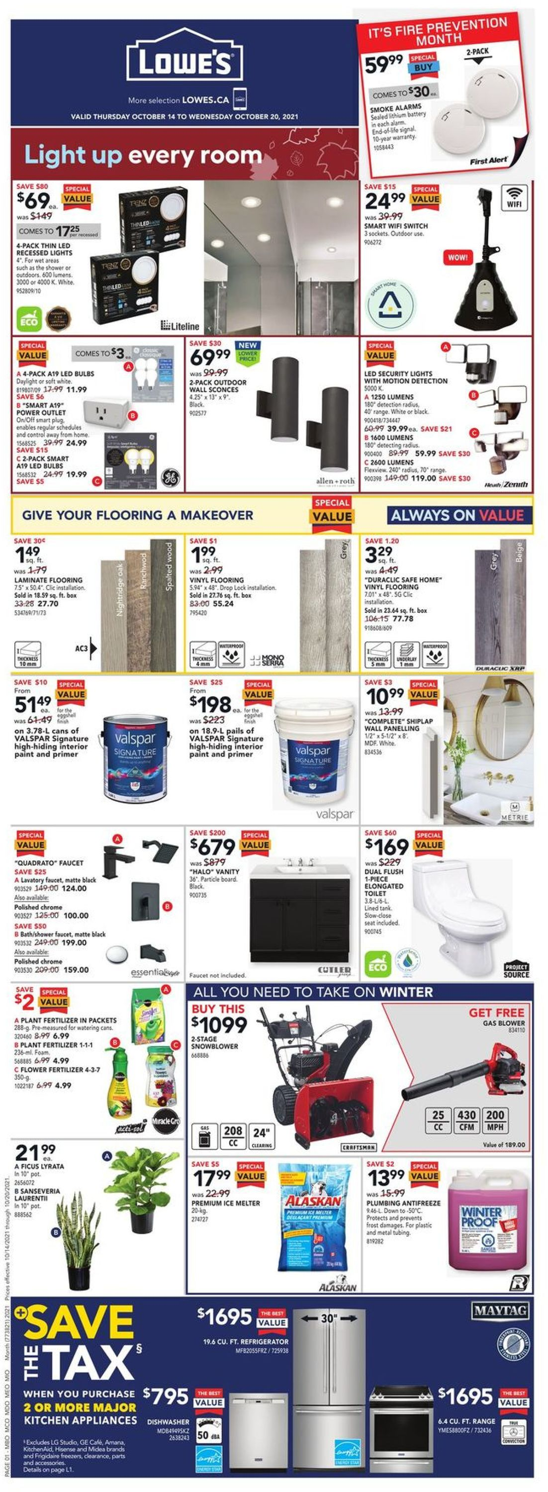 Lowes Flyer - 10/14-10/20/2021