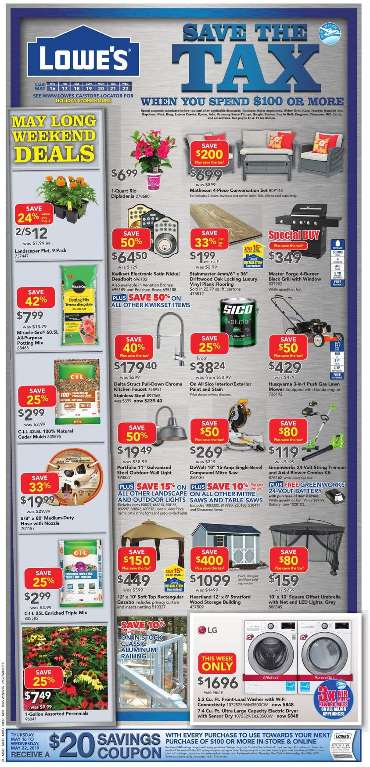 Lowes Flyer - 05/16-05/22/2019