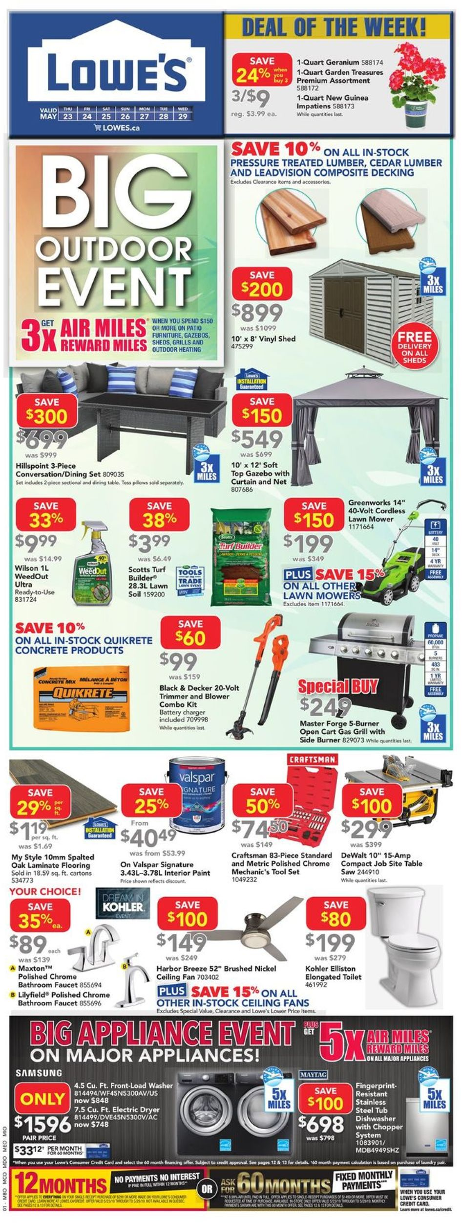 Lowes Flyer - 05/23-05/29/2019
