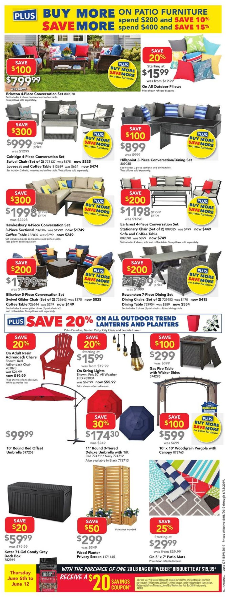 Lowes Flyer - 06/06-06/12/2019 (Page 16)