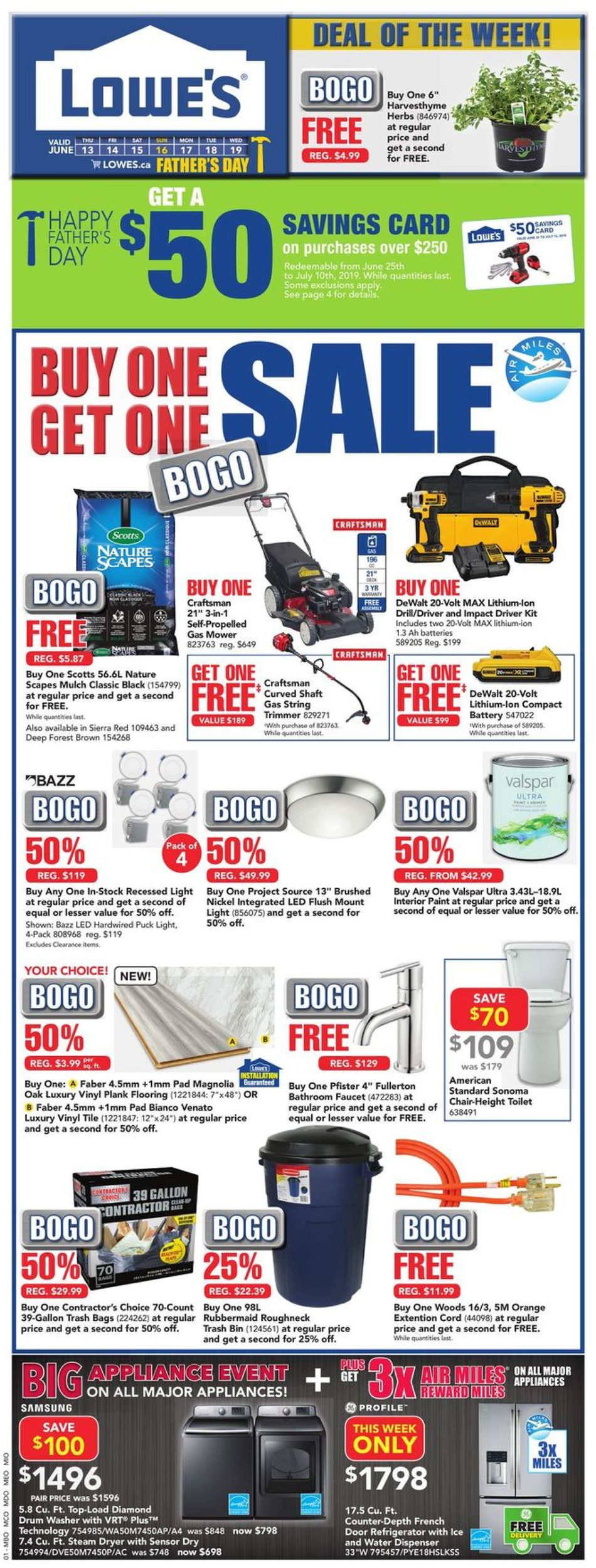 Lowes Flyer - 06/13-06/19/2019