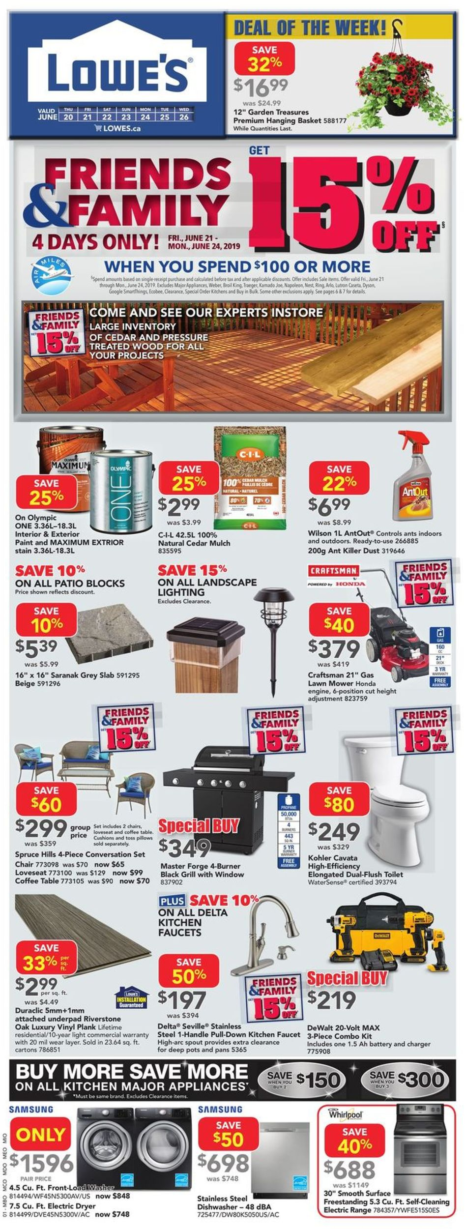 Lowes Flyer - 06/20-06/26/2019