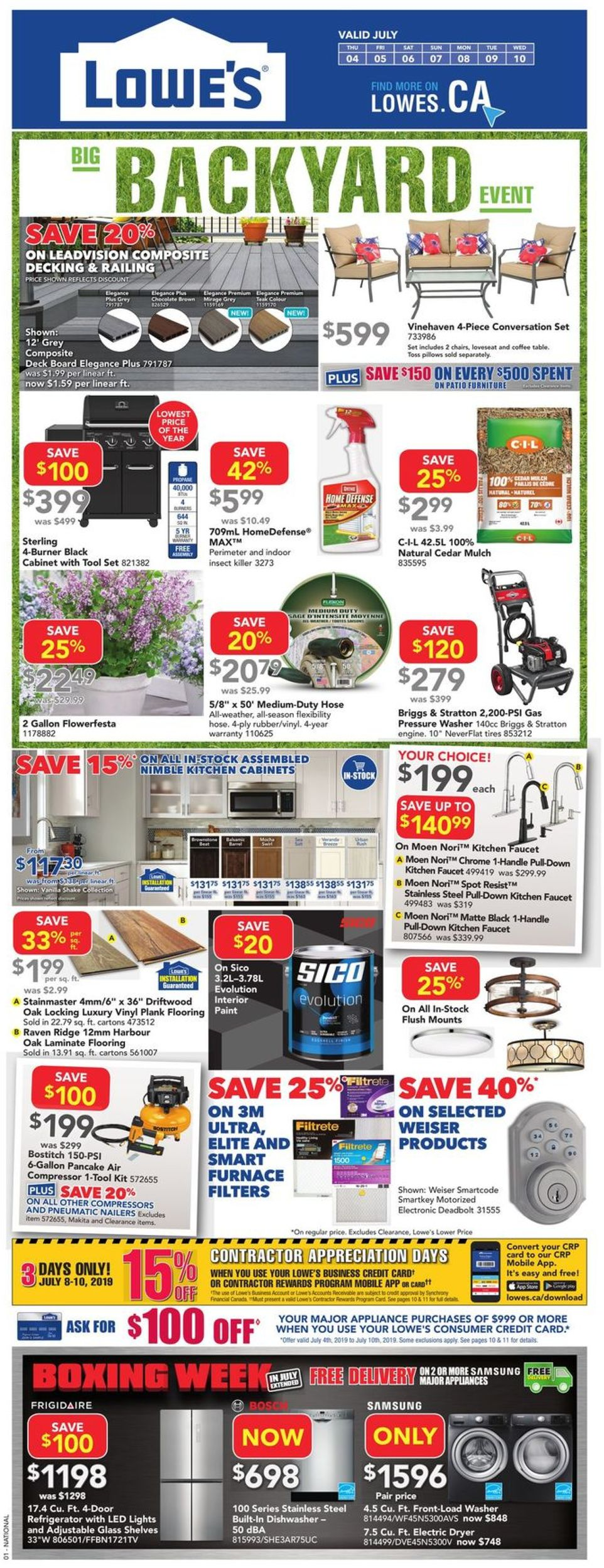 Lowes Flyer - 07/04-07/10/2019