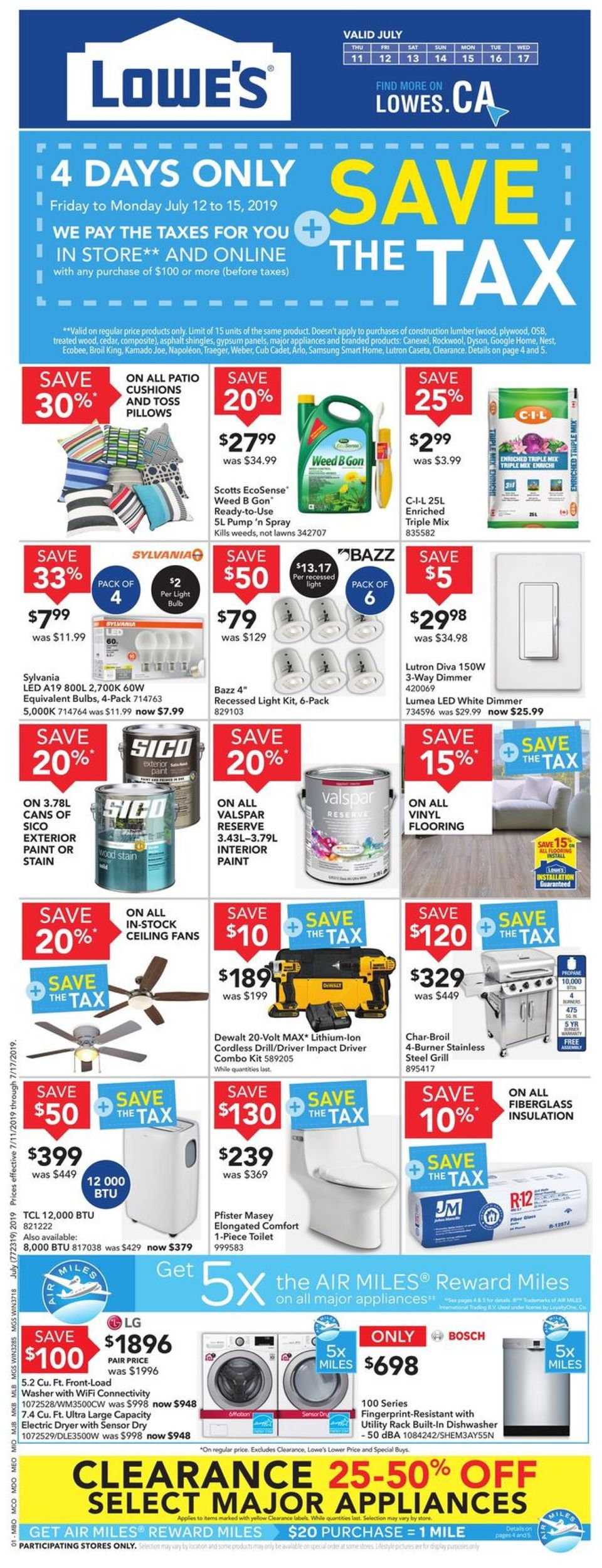 Lowes Flyer - 07/11-07/17/2019