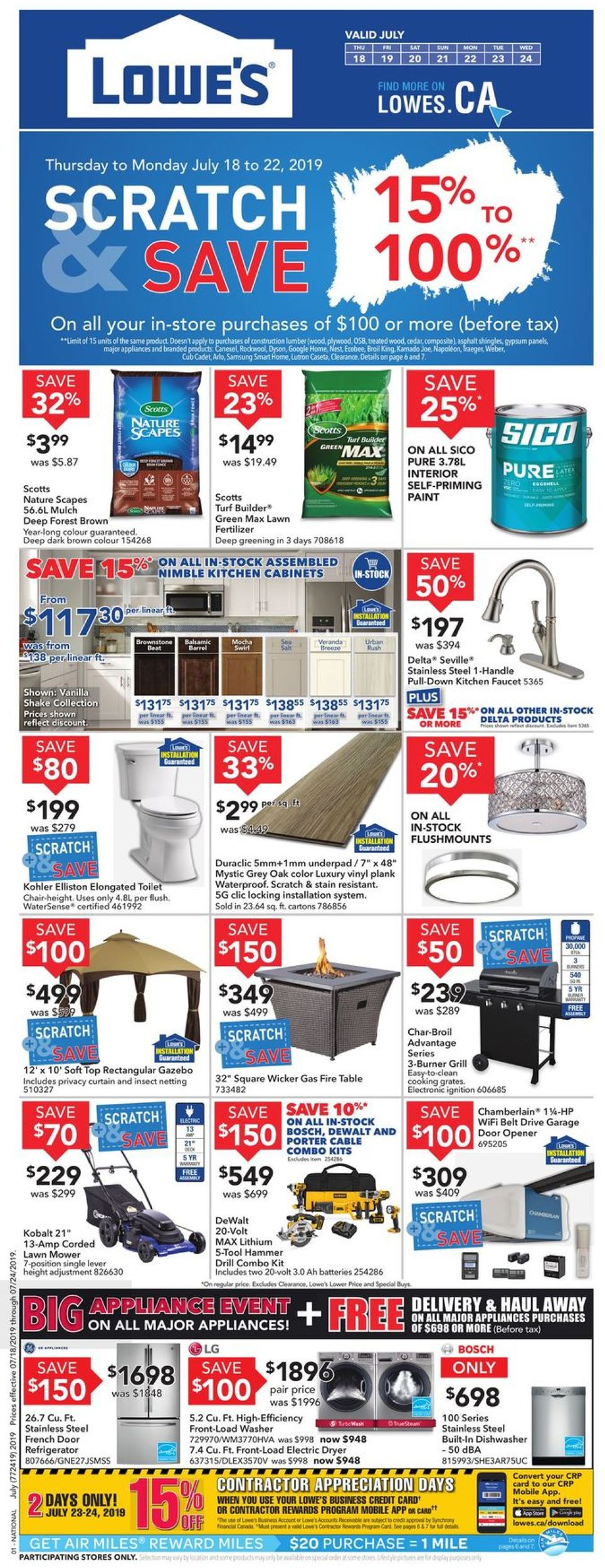 Lowes Flyer - 07/18-07/24/2019