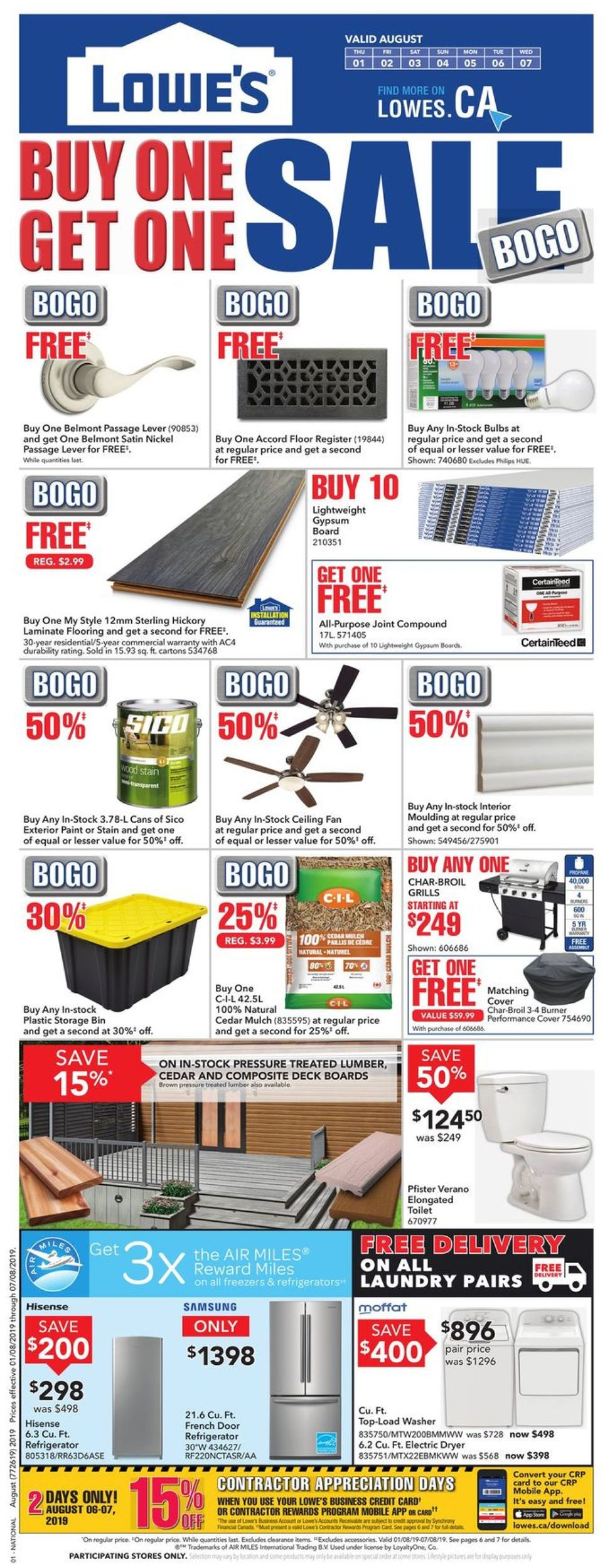Lowes Flyer - 08/01-08/07/2019