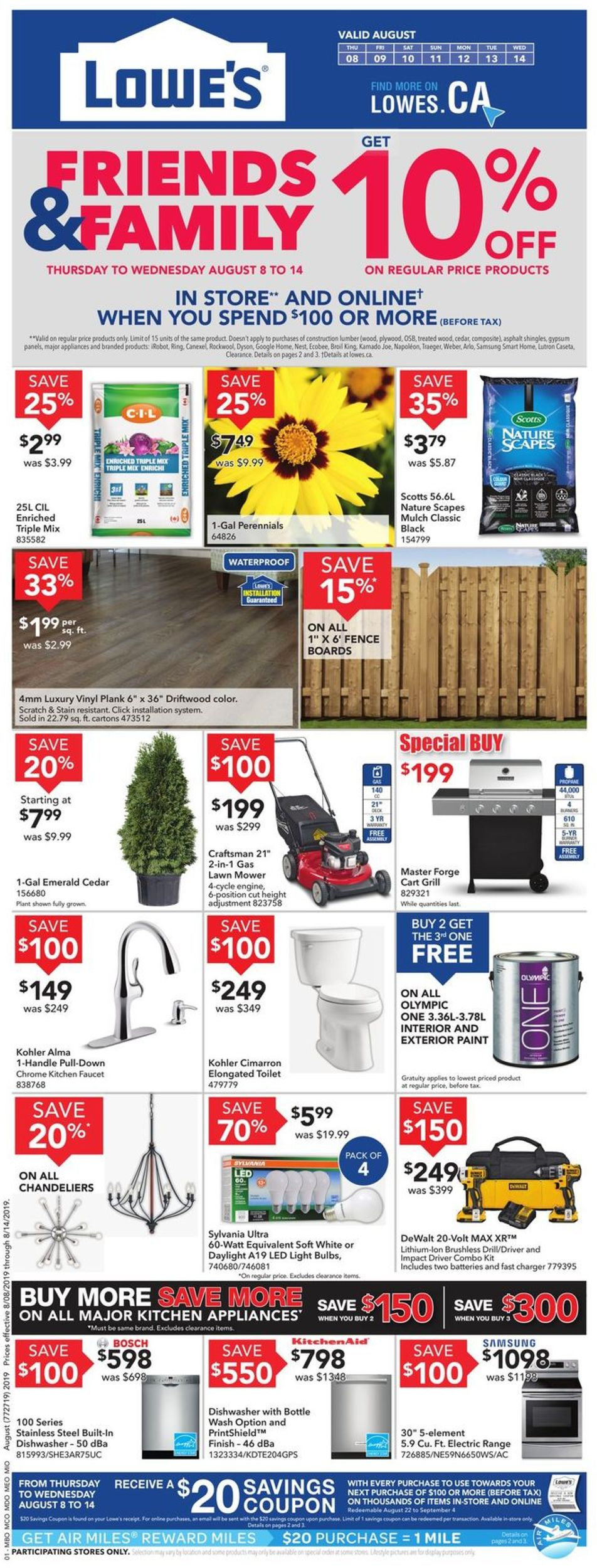 Lowes Flyer - 08/08-08/14/2019