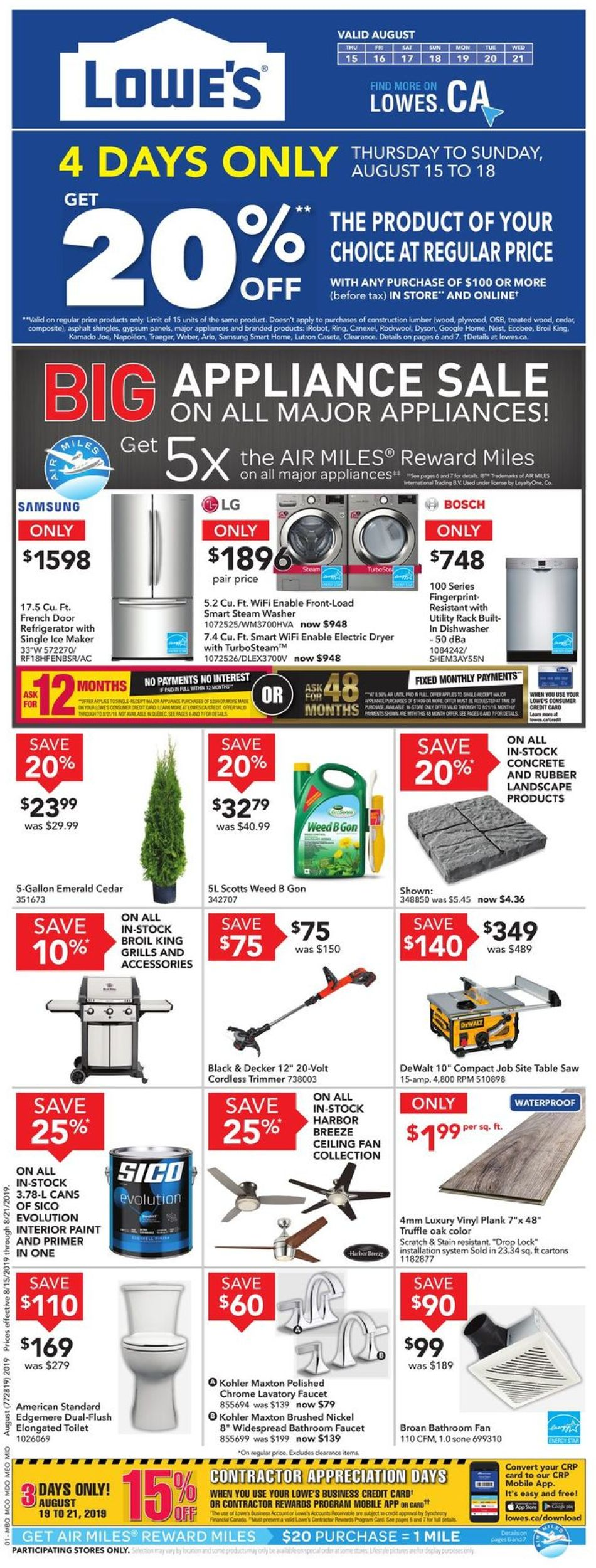 Lowes Flyer - 08/15-08/21/2019