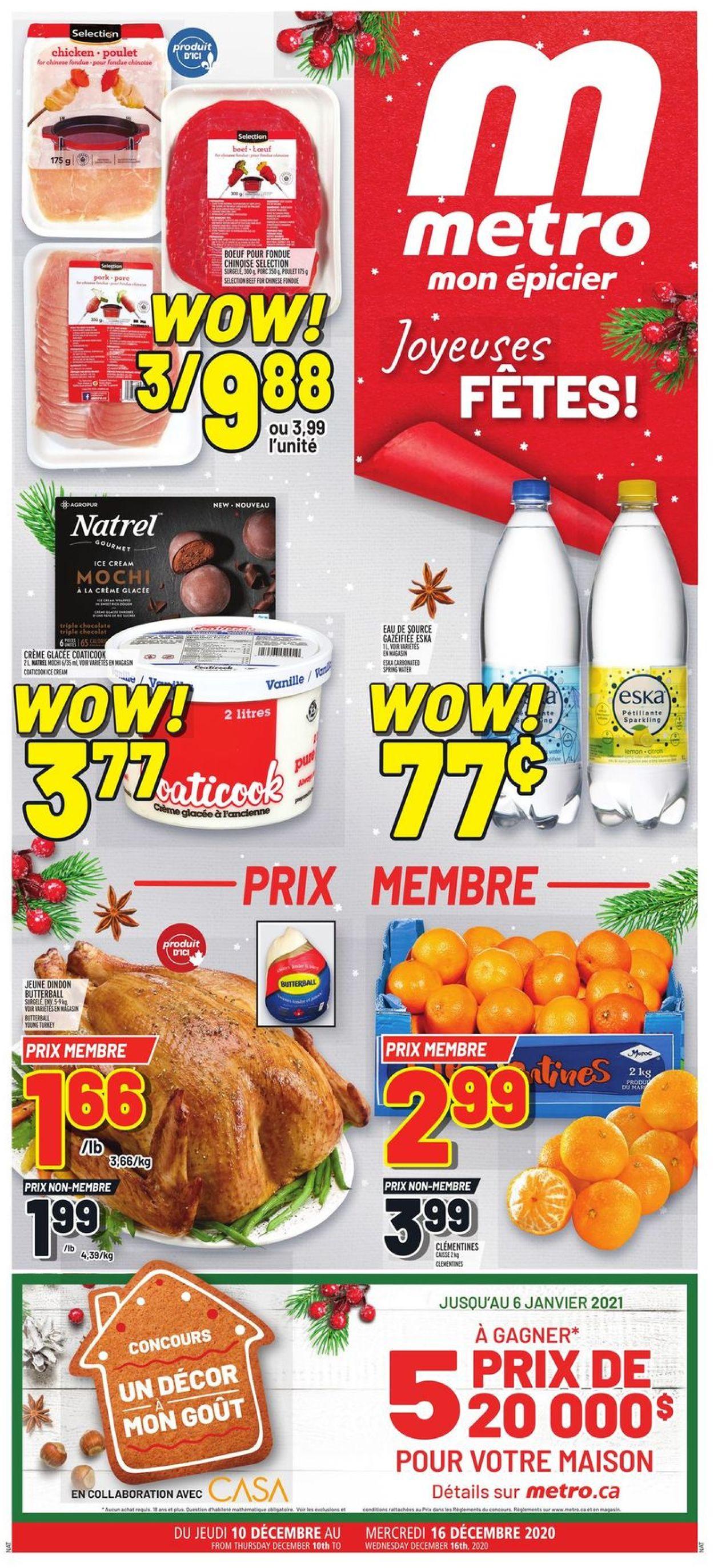 Metro - Christmas 2020 Flyer - 12/10-12/16/2020