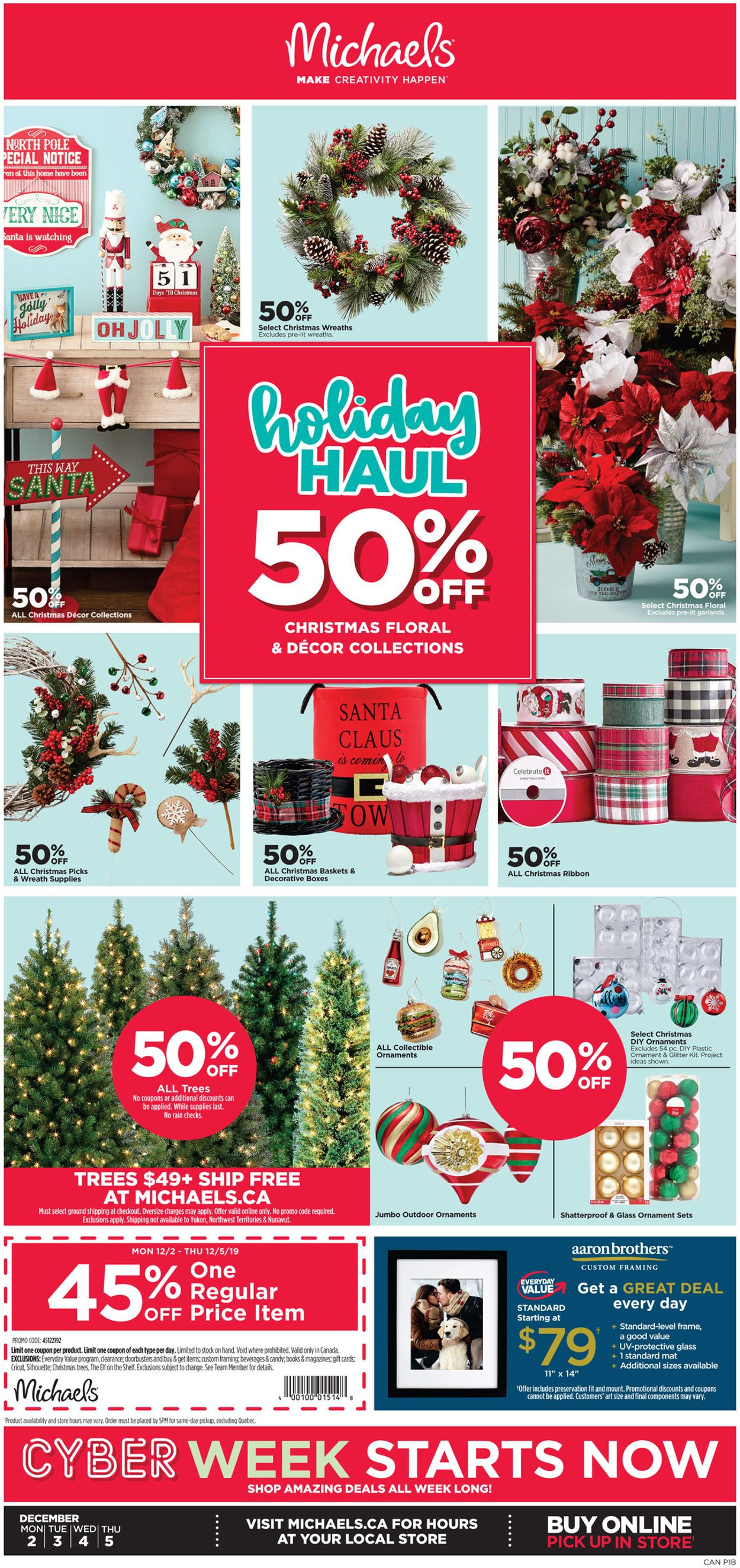 Michaels Holiday Flyer 2019 Flyer - 12/02-12/05/2019