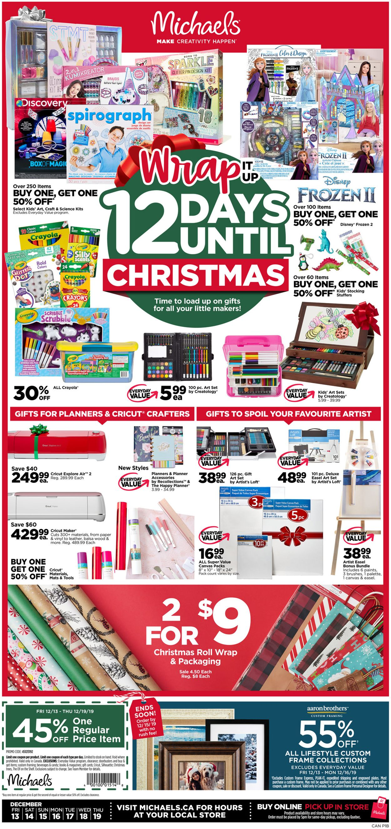Michaels - Christmas 2019 Flyer