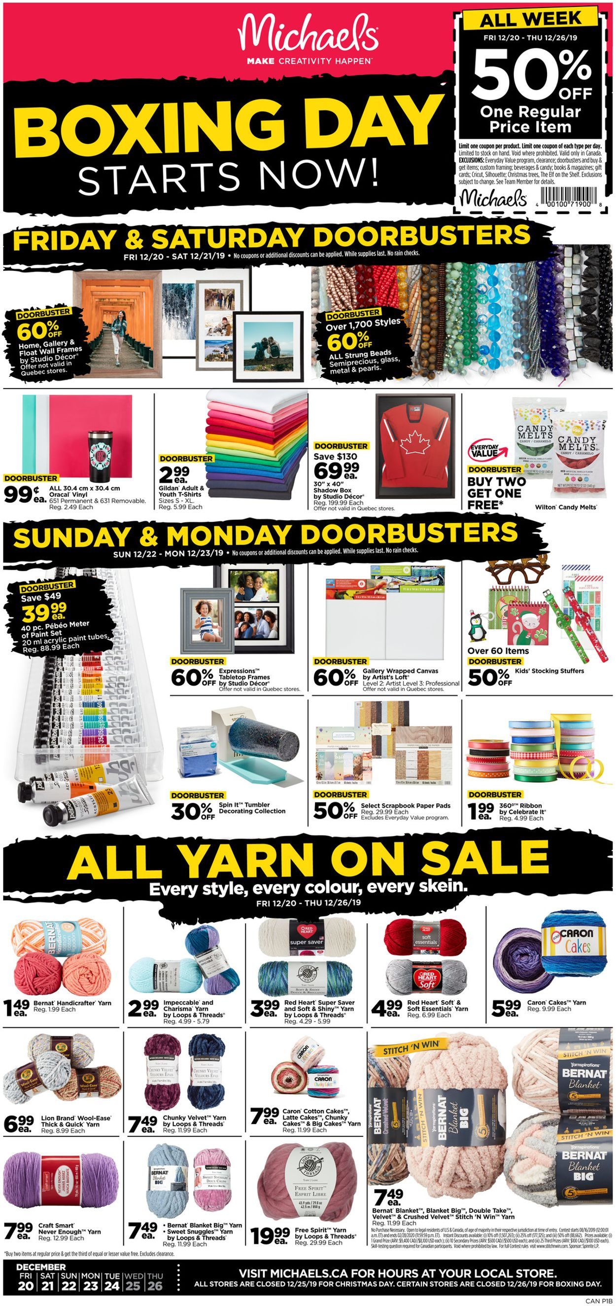Michaels - BOXING DAY 2019 SALE
