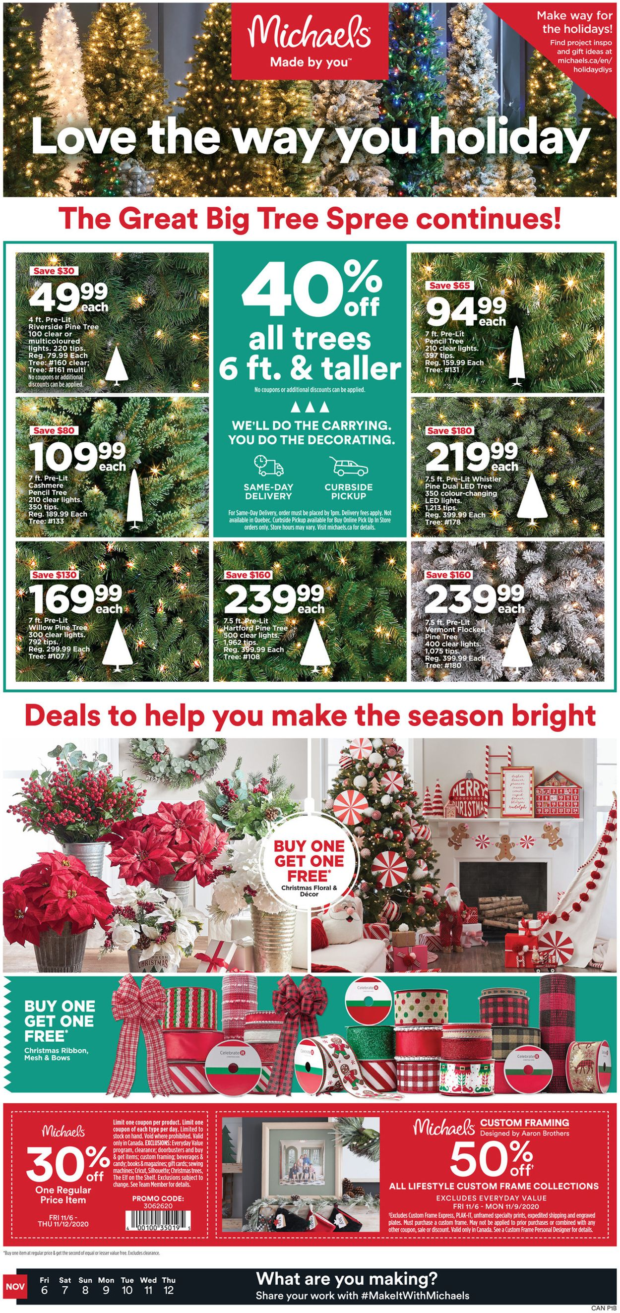 Michaels - Holiday 2020 Flyer - 11/06-11/12/2020