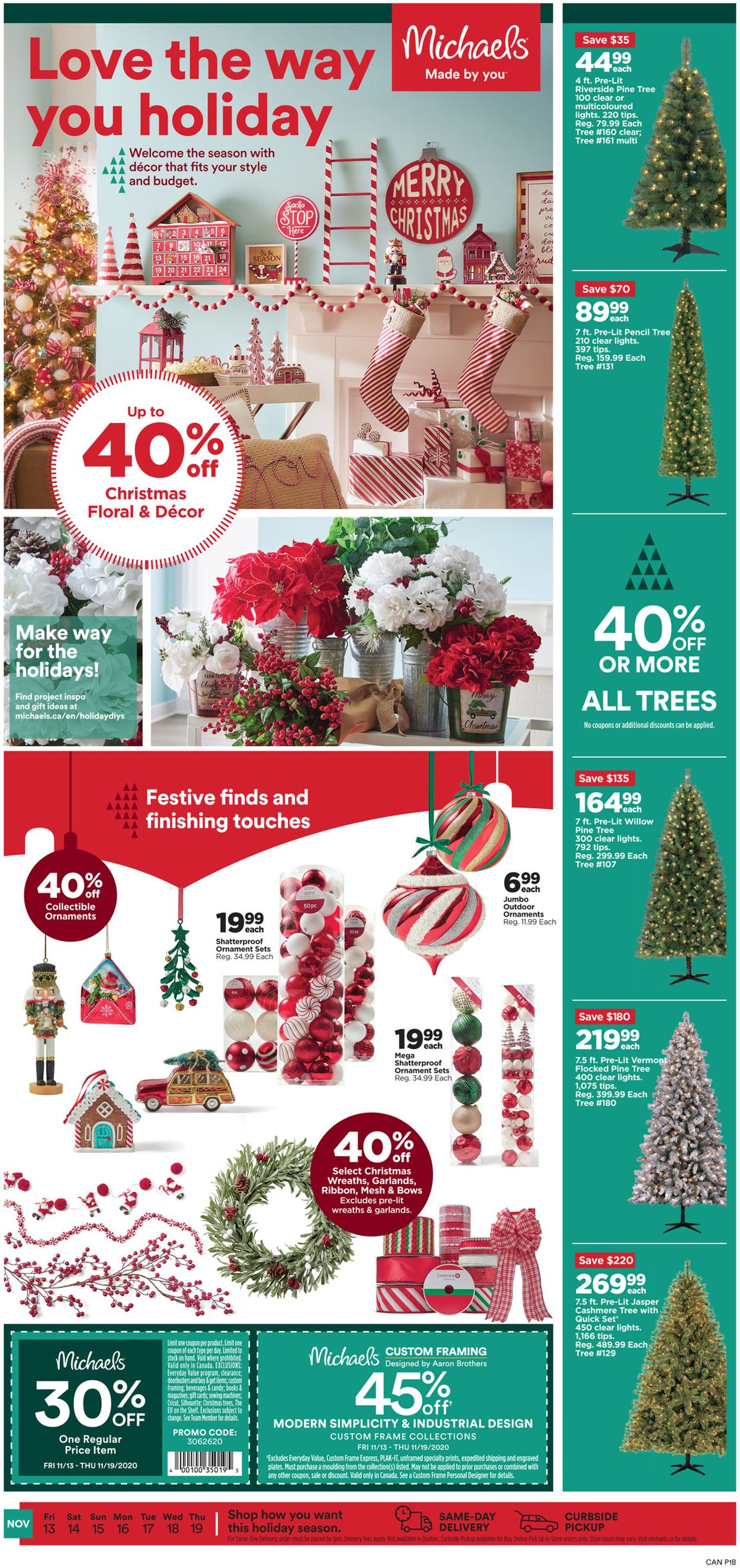 Michaels - Holiday 2020 Flyer - 11/13-11/19/2020