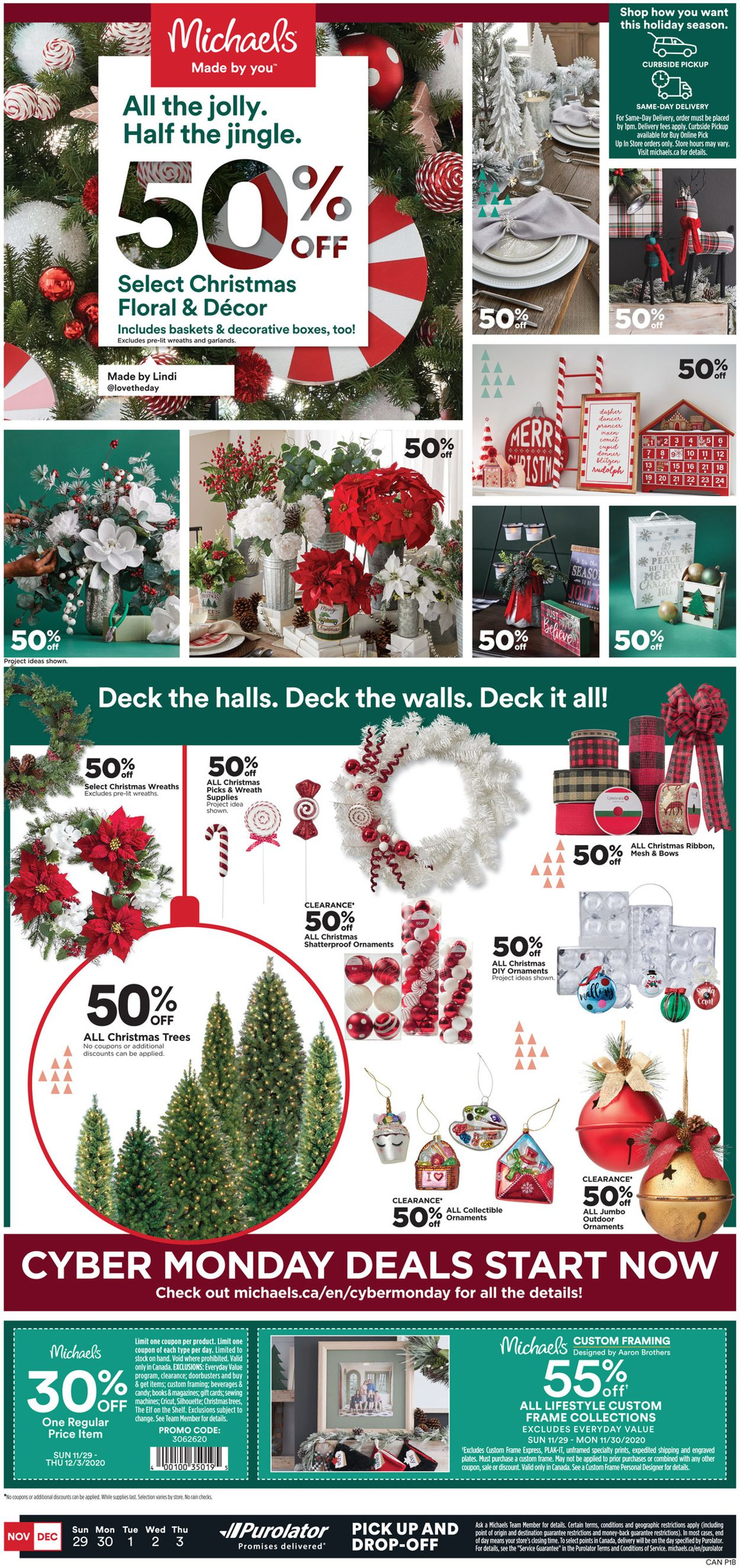 Michaels - Holiday 2020 Flyer - 11/29-12/03/2020