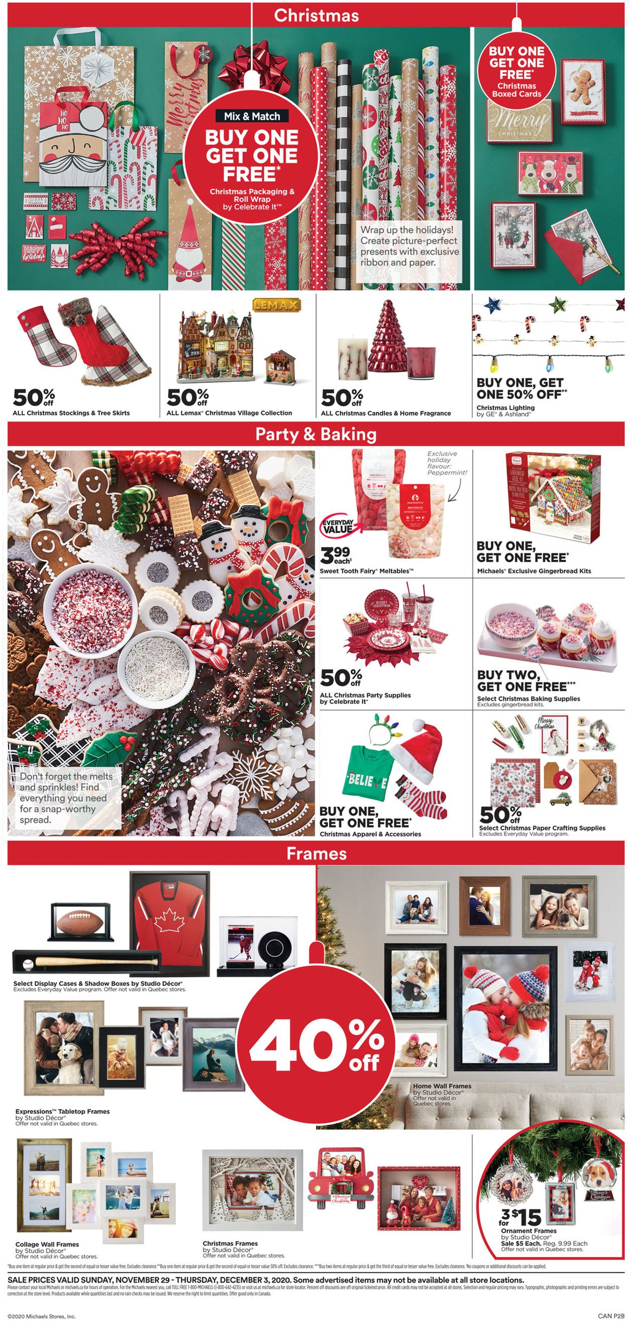 Michaels - Holiday 2020 Flyer - 11/29-12/03/2020 (Page 2)