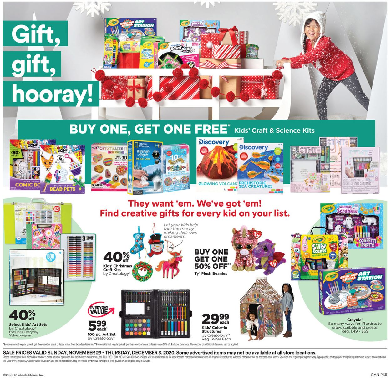 Michaels - Holiday 2020 Flyer - 11/29-12/03/2020 (Page 6)