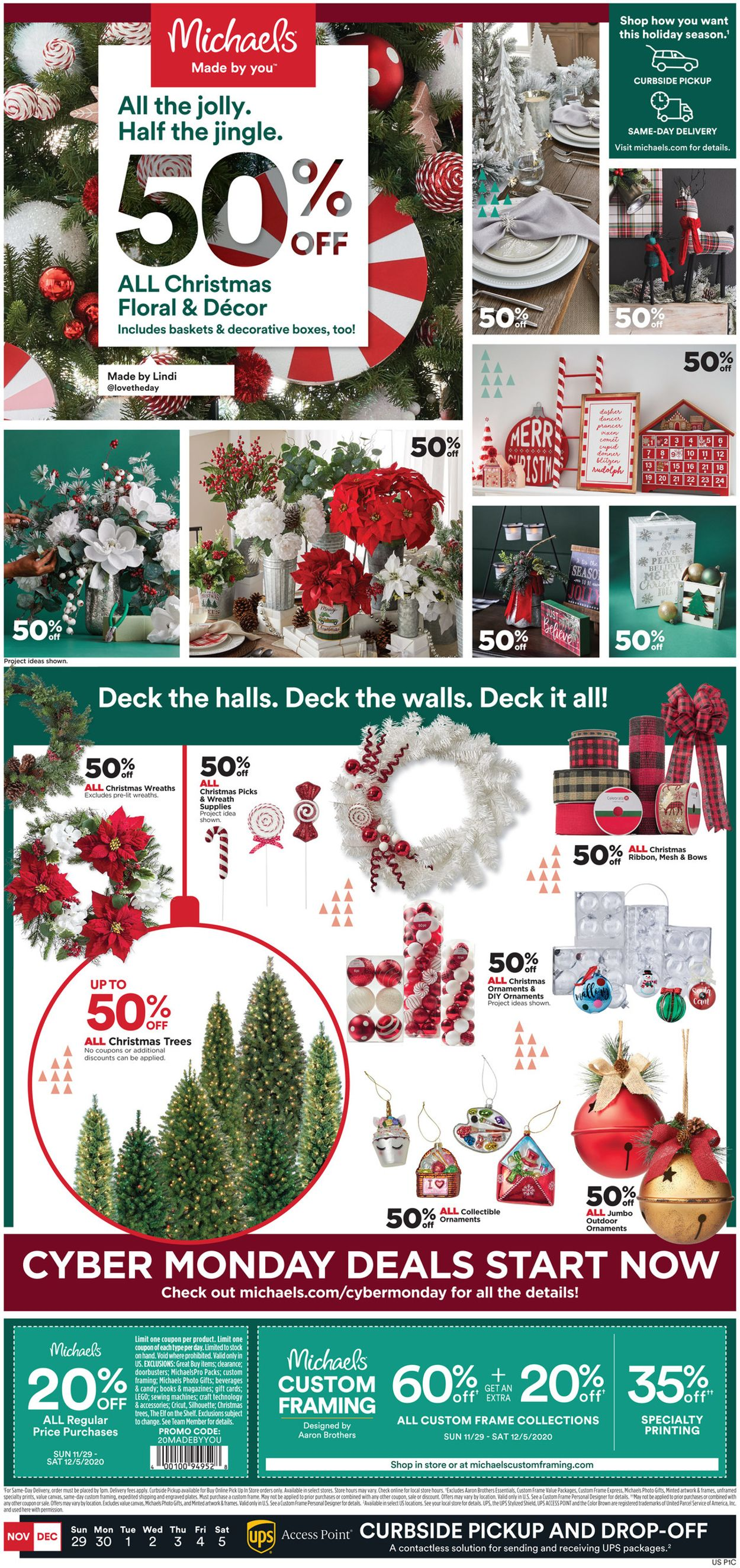 Michaels - Holiday 2020 Flyer - 12/04-12/05/2020