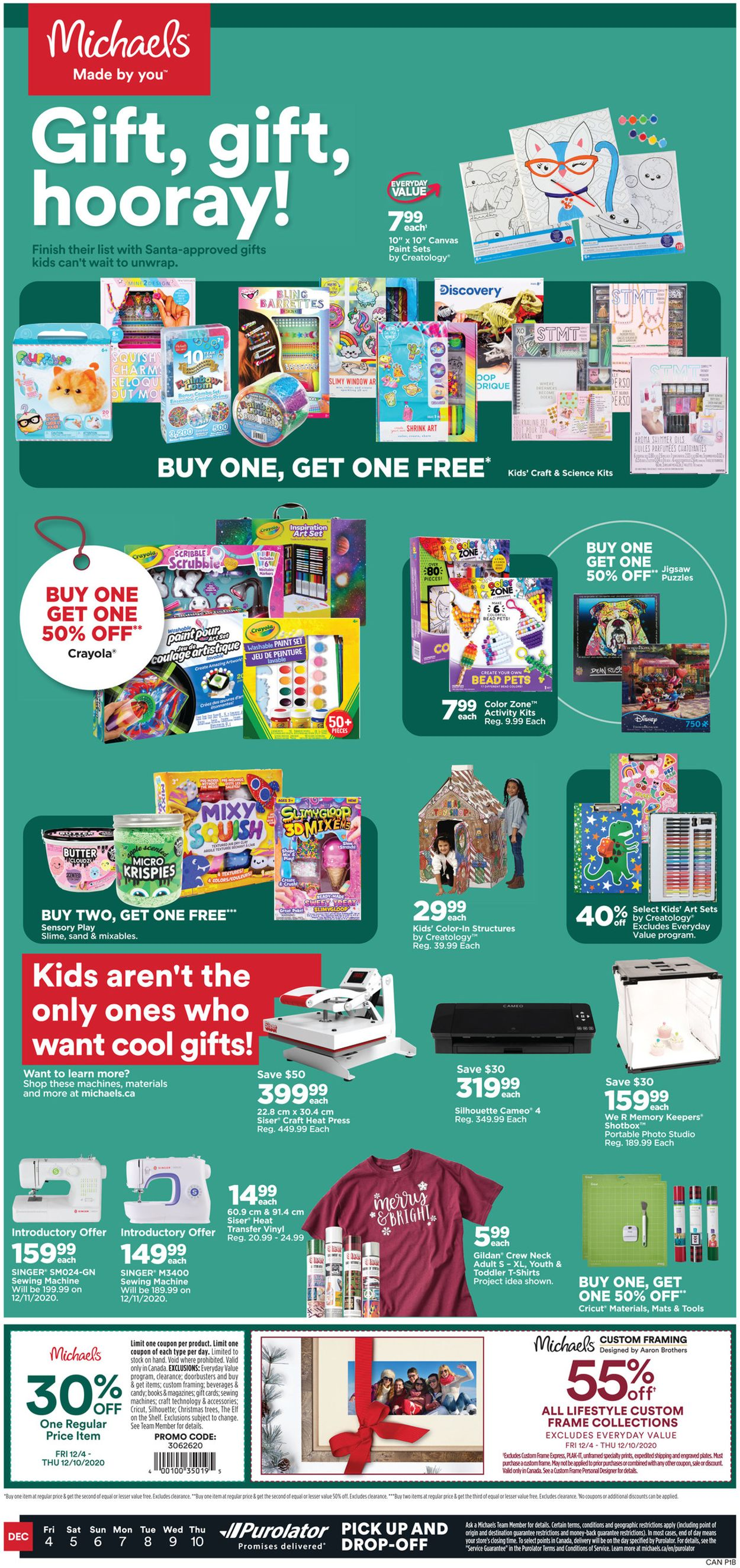 Michaels - Holiday 2020 Flyer - 12/04-12/10/2020