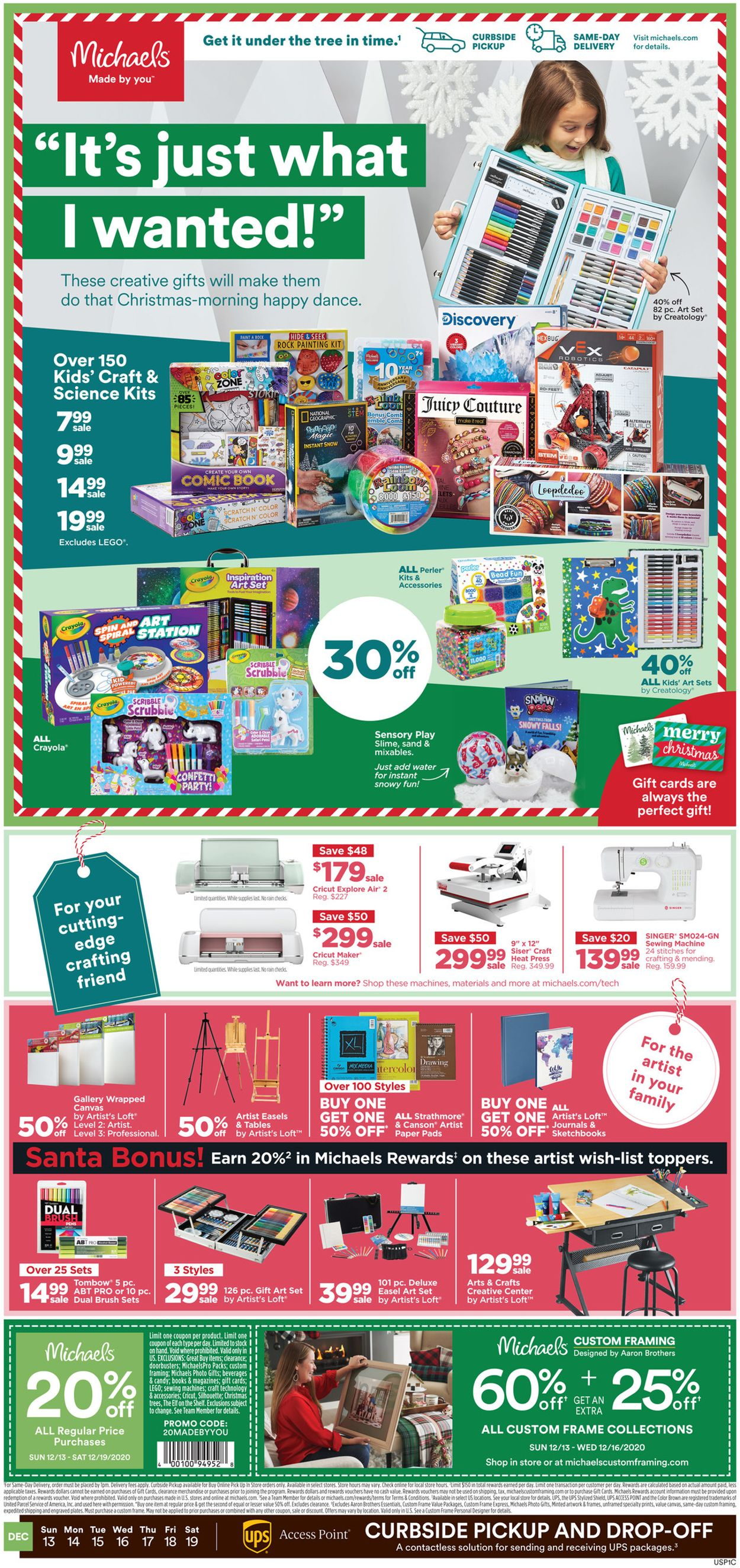 Michaels - Holiday 2020 Flyer - 12/13-12/19/2020